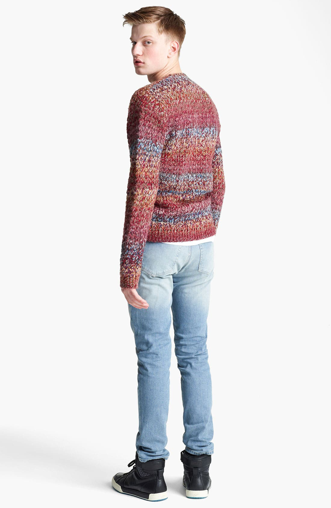 Alternate Image 5  - Topman Ombré Knit Crewneck Sweater