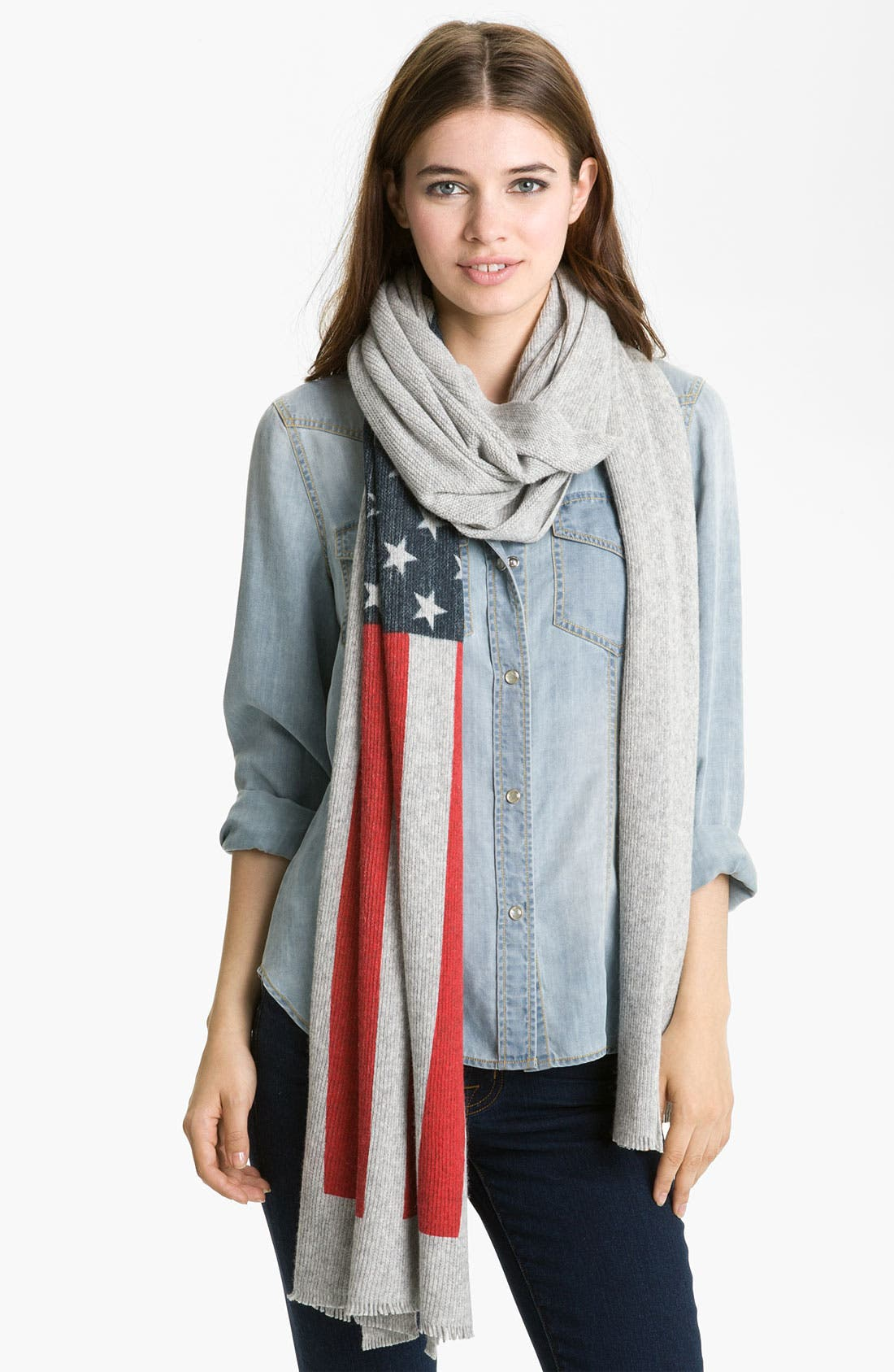 Main Image - Tarnish 'American Flag' Scarf