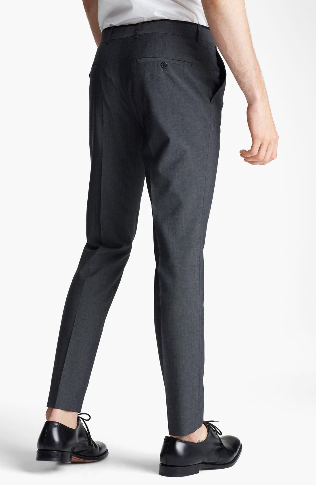 Alternate Image 2  - Topman 'Novak' Skinny Fit Flat Front Trousers