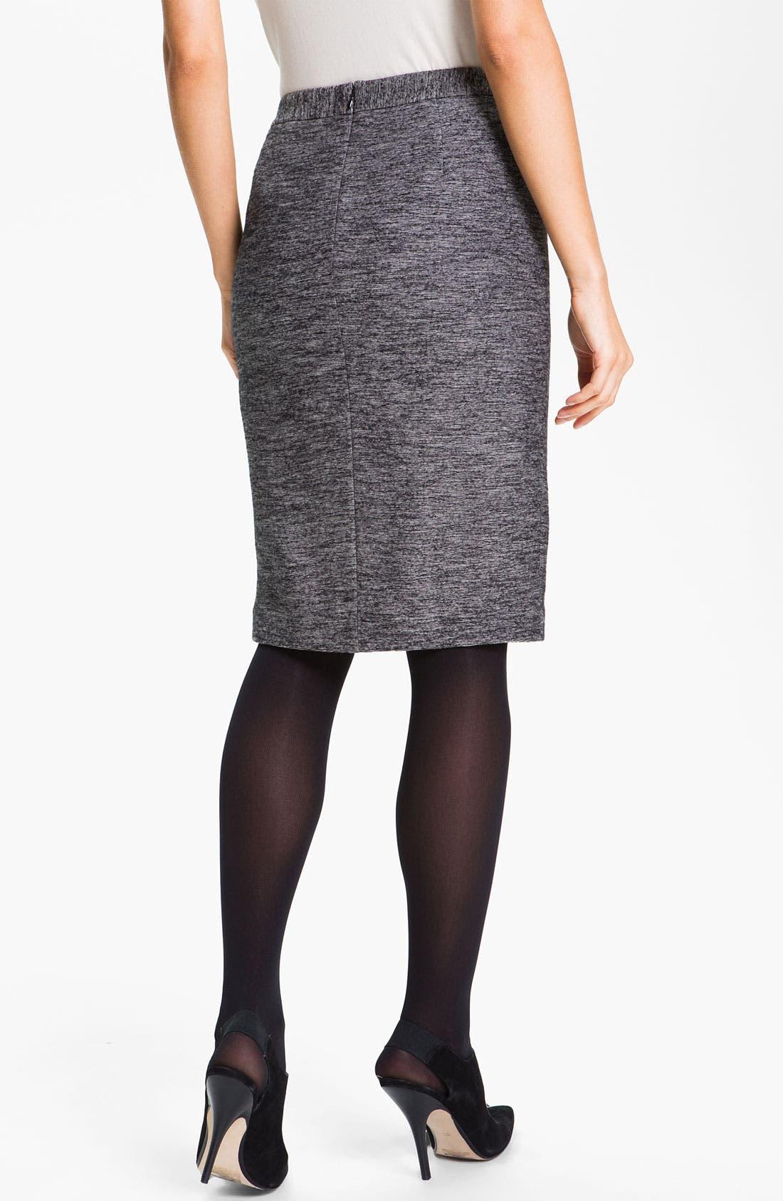 Alternate Image 2  - Classiques Entier® 'Horizon' Double Knit Pencil Skirt