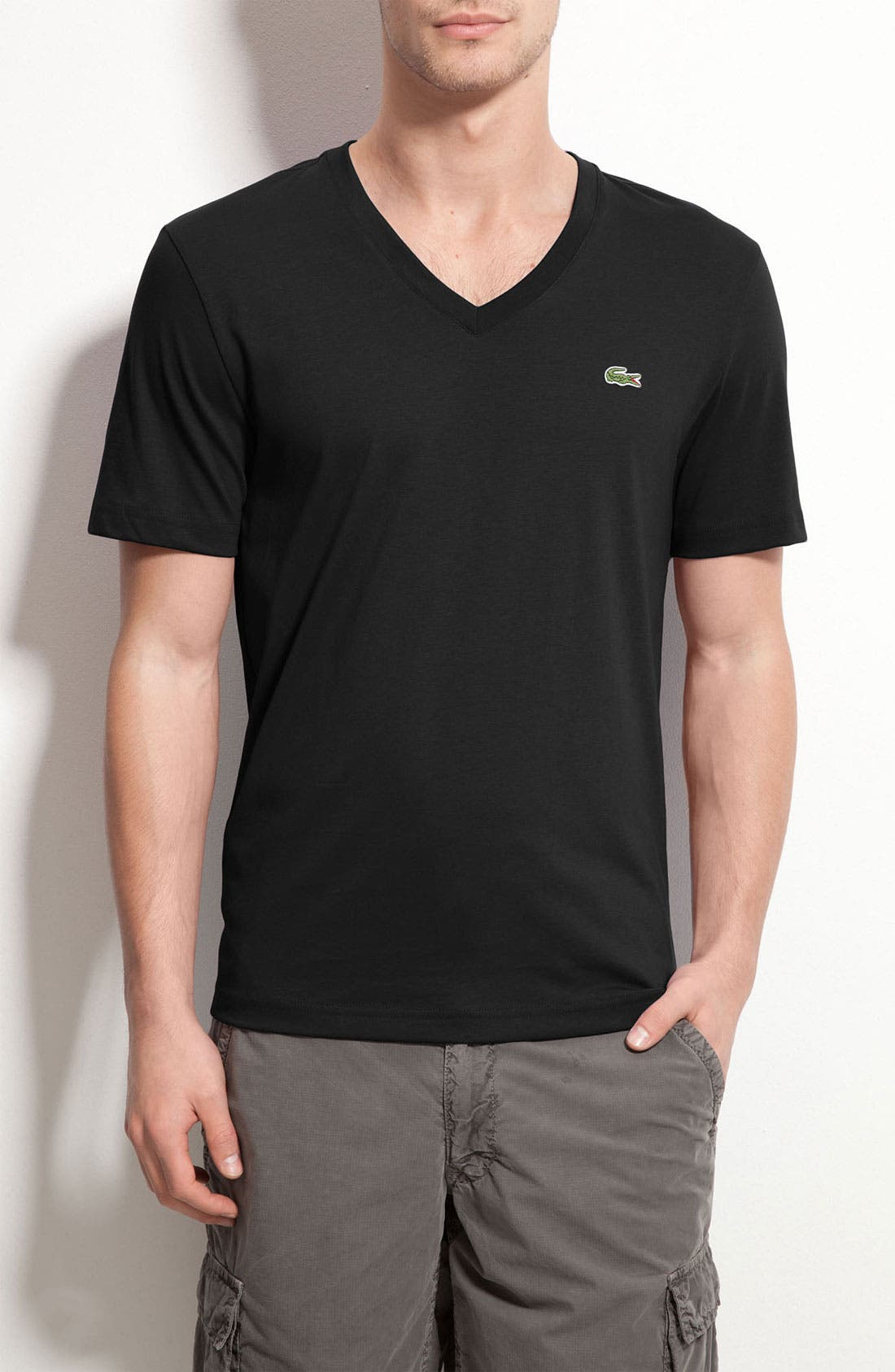 Alternate Image 1 Selected - Lacoste L!VE Trim Fit Jersey V-Neck T-Shirt
