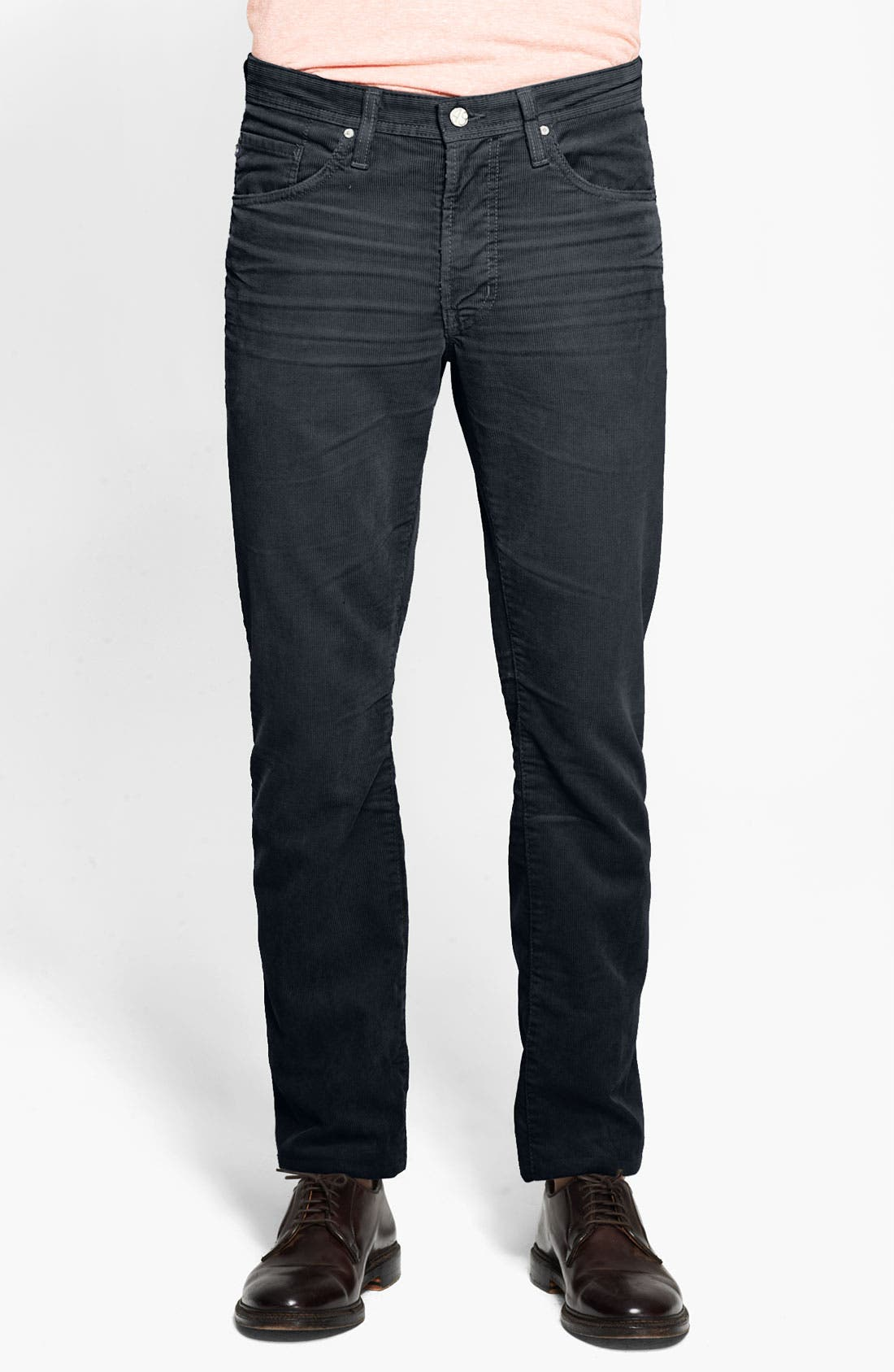 Alternate Image 1 Selected - AG Jeans Straight Leg Corduroy Pants