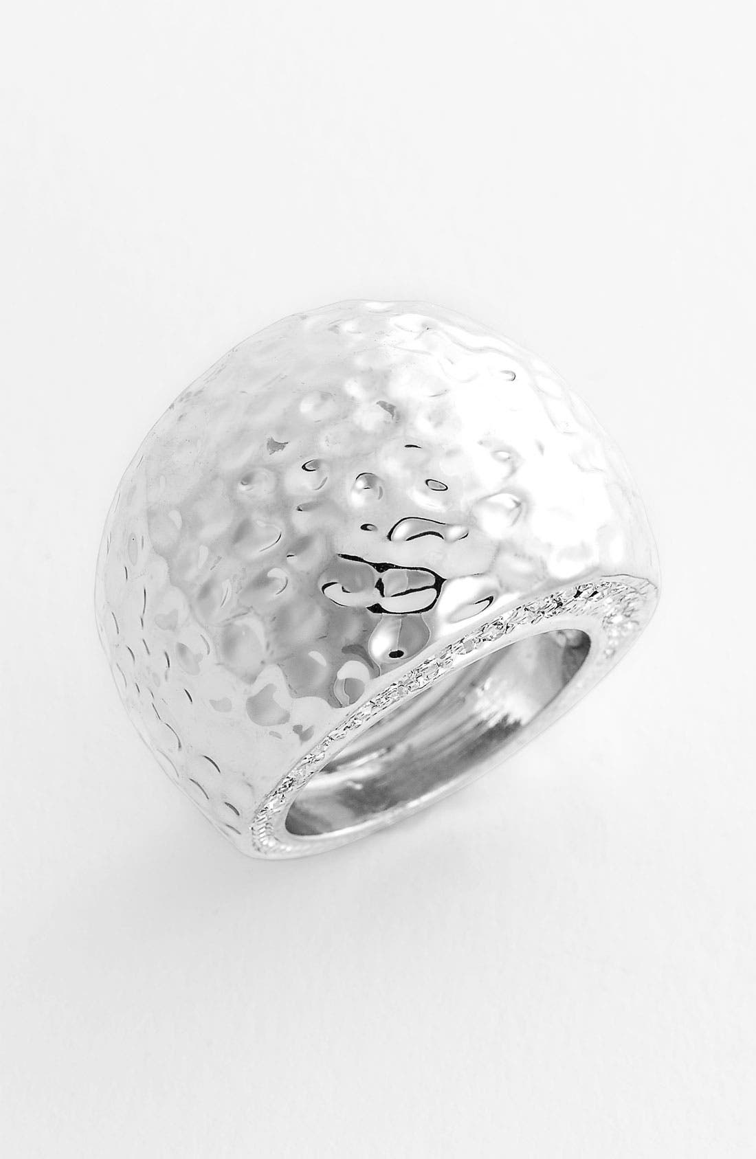 Alternate Image 1 Selected - Spring Street Design Group Hammered Dome Ring