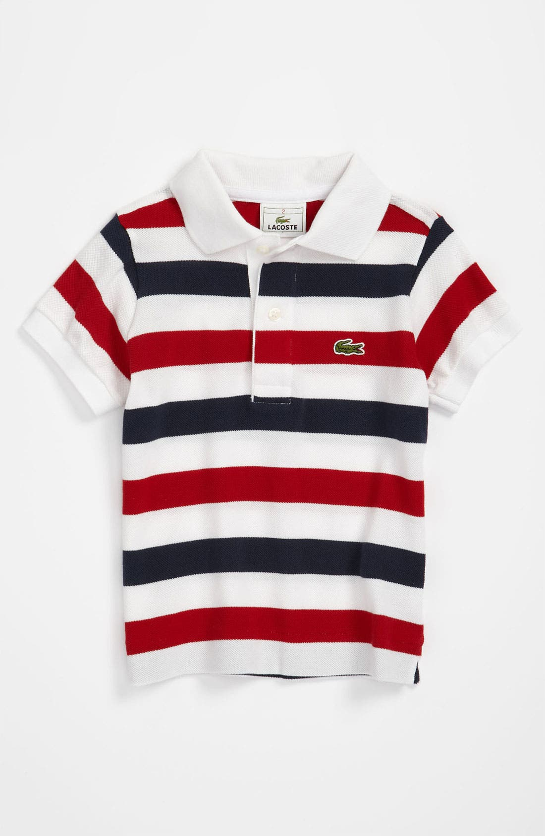 Alternate Image 1 Selected - Lacoste Stripe Polo (Toddler)