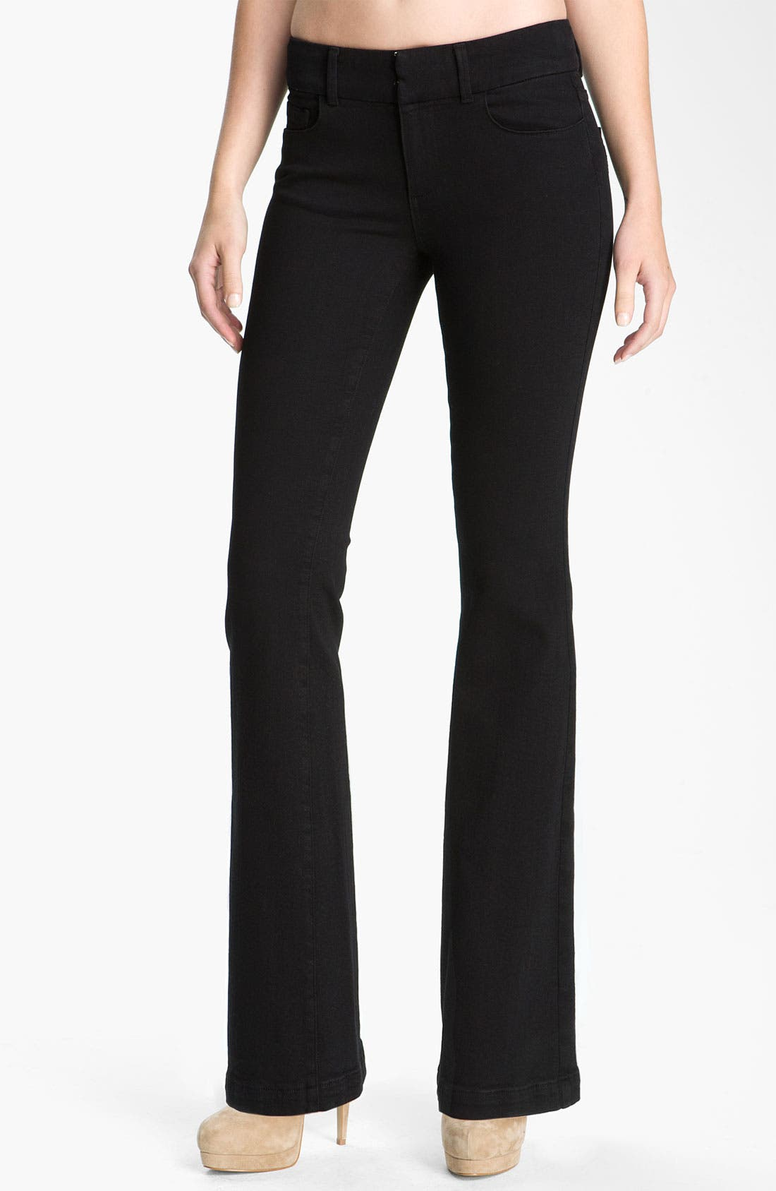 Alternate Image 1 Selected - Paige Denim 'Kennedy' Bootcut Stretch Jeans (Black Ink)