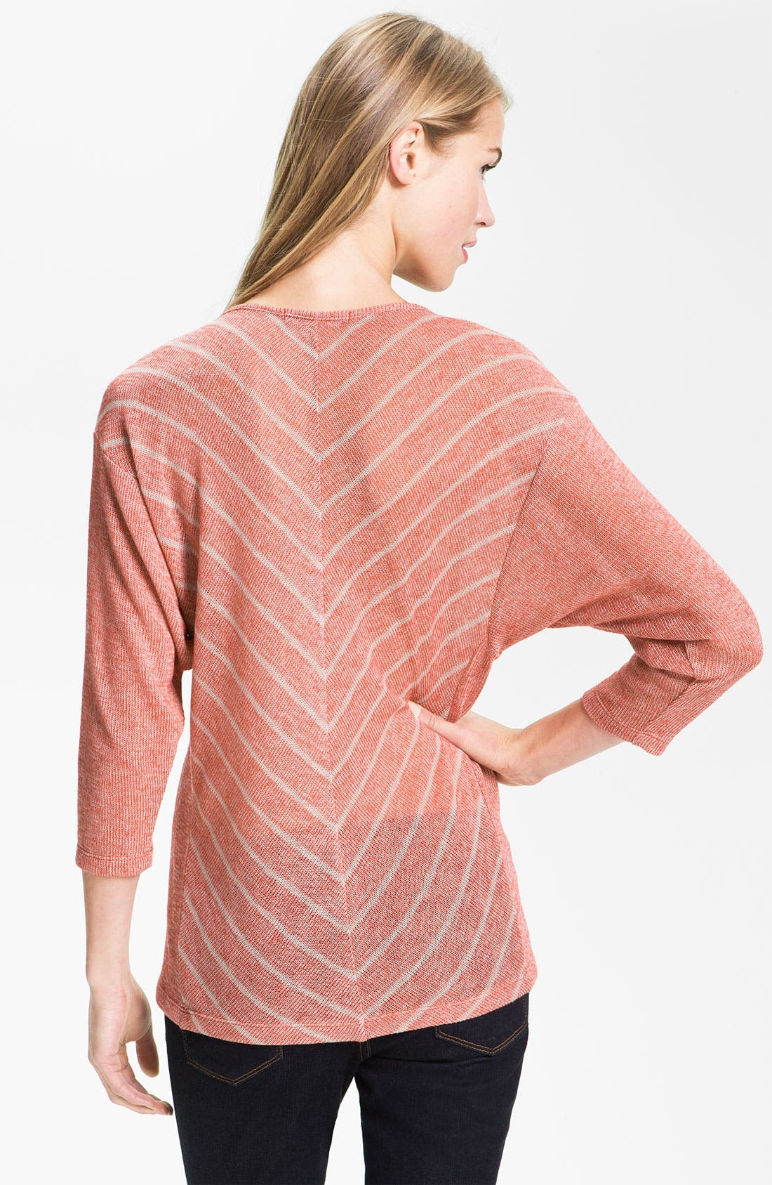 Alternate Image 2  - Olivia Moon Chevron Stripe Dolman Tee