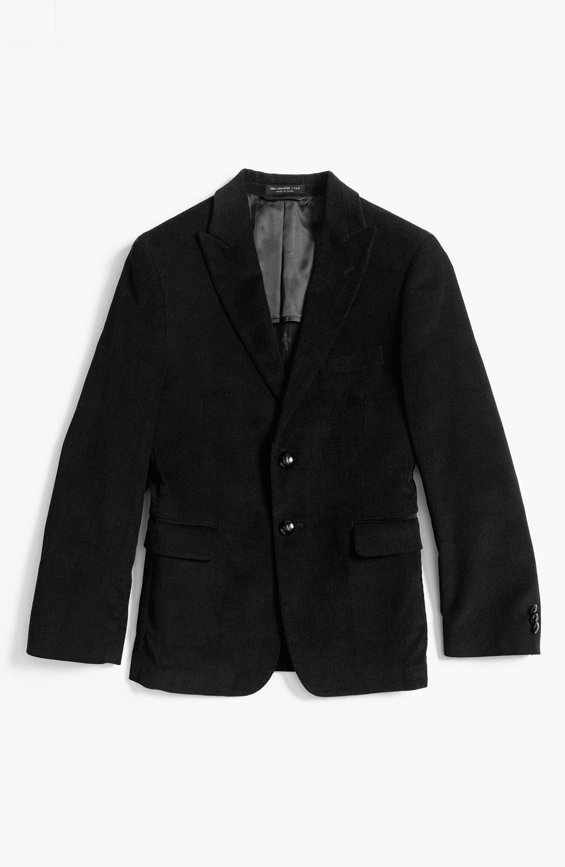 Alternate Image 1 Selected - John Varvatos Star USA Corduroy Sportcoat (Big Boys)