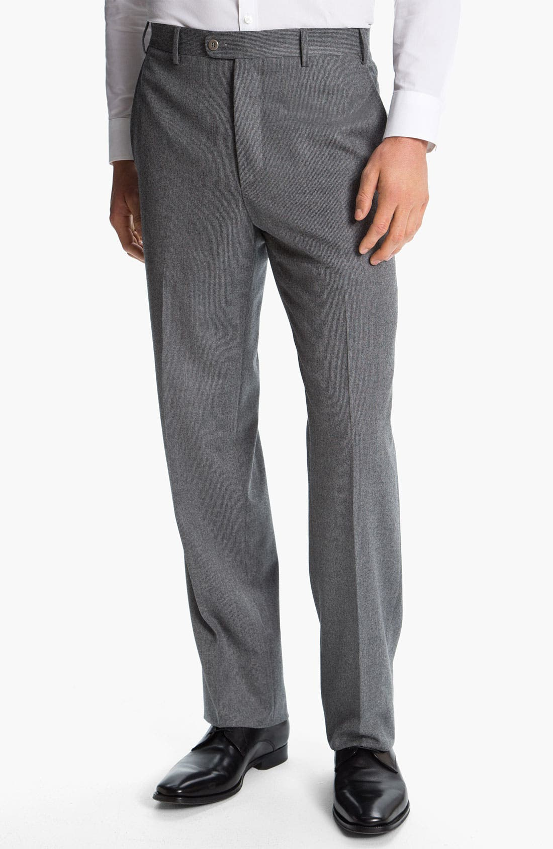 Alternate Image 1 Selected - Zanella 'Todd' Flat Front Trousers