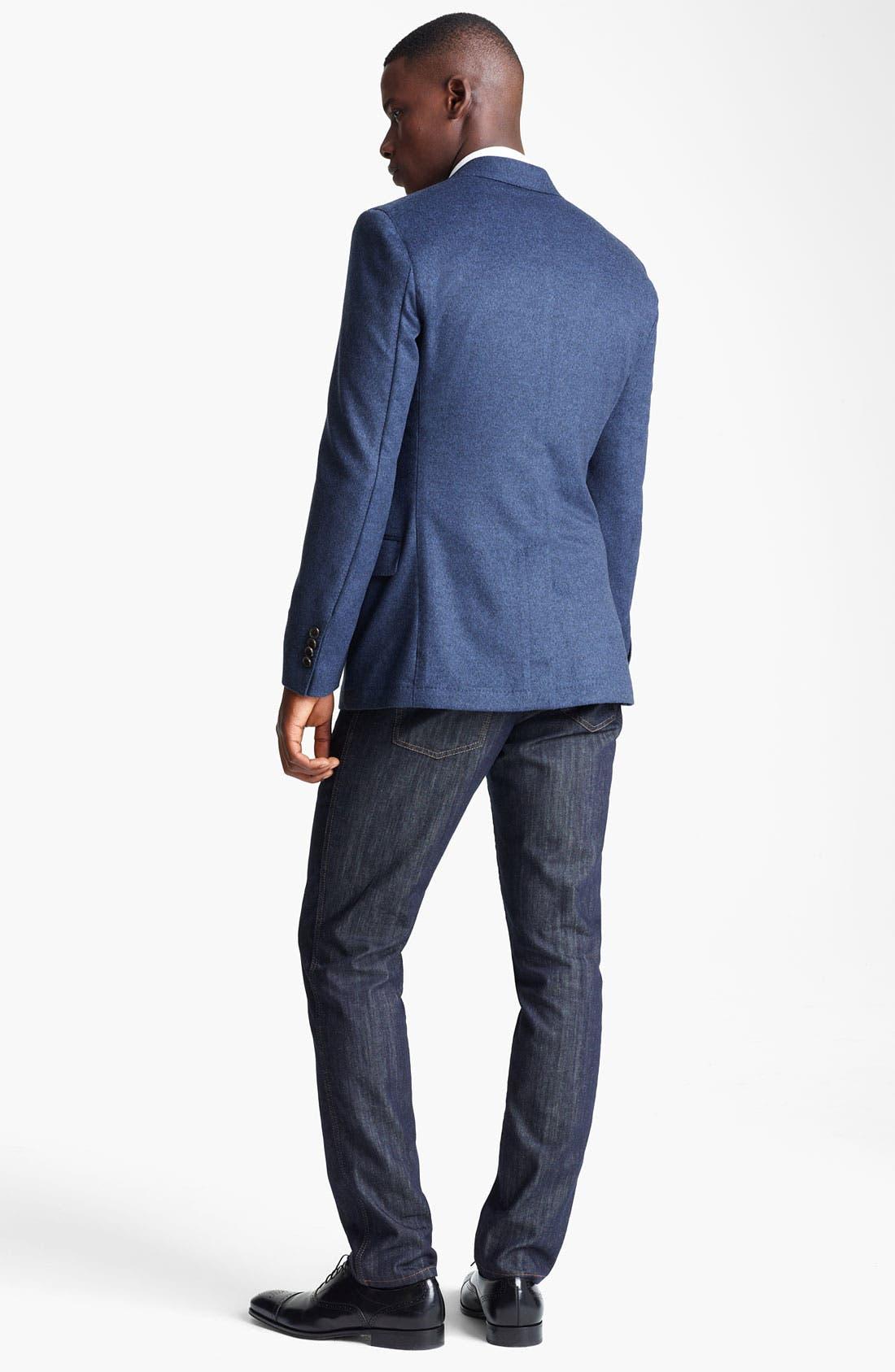 Alternate Image 5  - Salvatore Ferragamo 'Giacca Monopetto' Wool & Cashmere Sportcoat