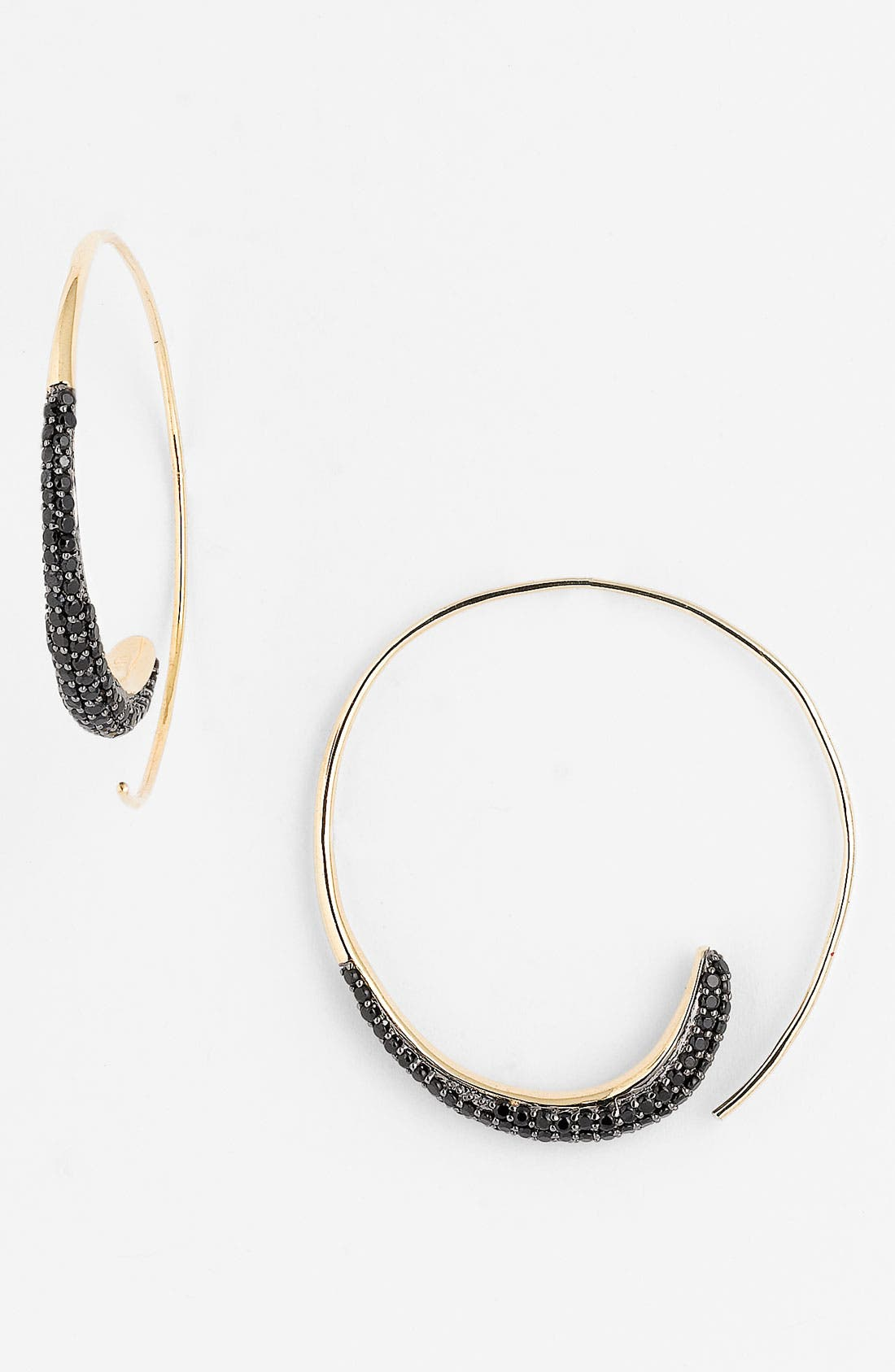 Alternate Image 1 Selected - Tom Binns 'Bejewelled' Swirl Hoop Earrings