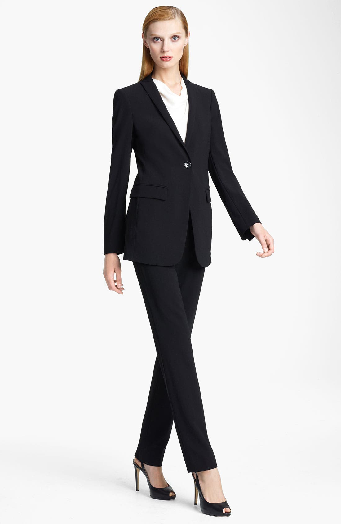 Main Image - Armani Collezioni Single Button Crepe Jacket