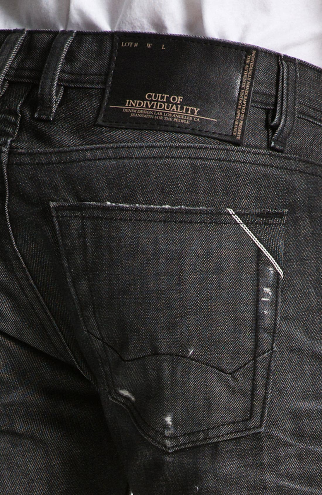 Alternate Image 4  - Cult of Individuality 'Hagen' Relaxed Straight Leg Jeans (Black)