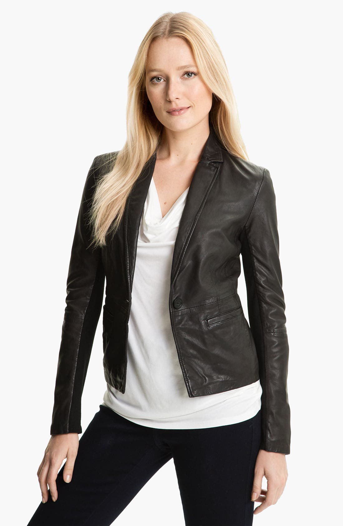 Alternate Image 1 Selected - MICHAEL Michael Kors Leather Blazer