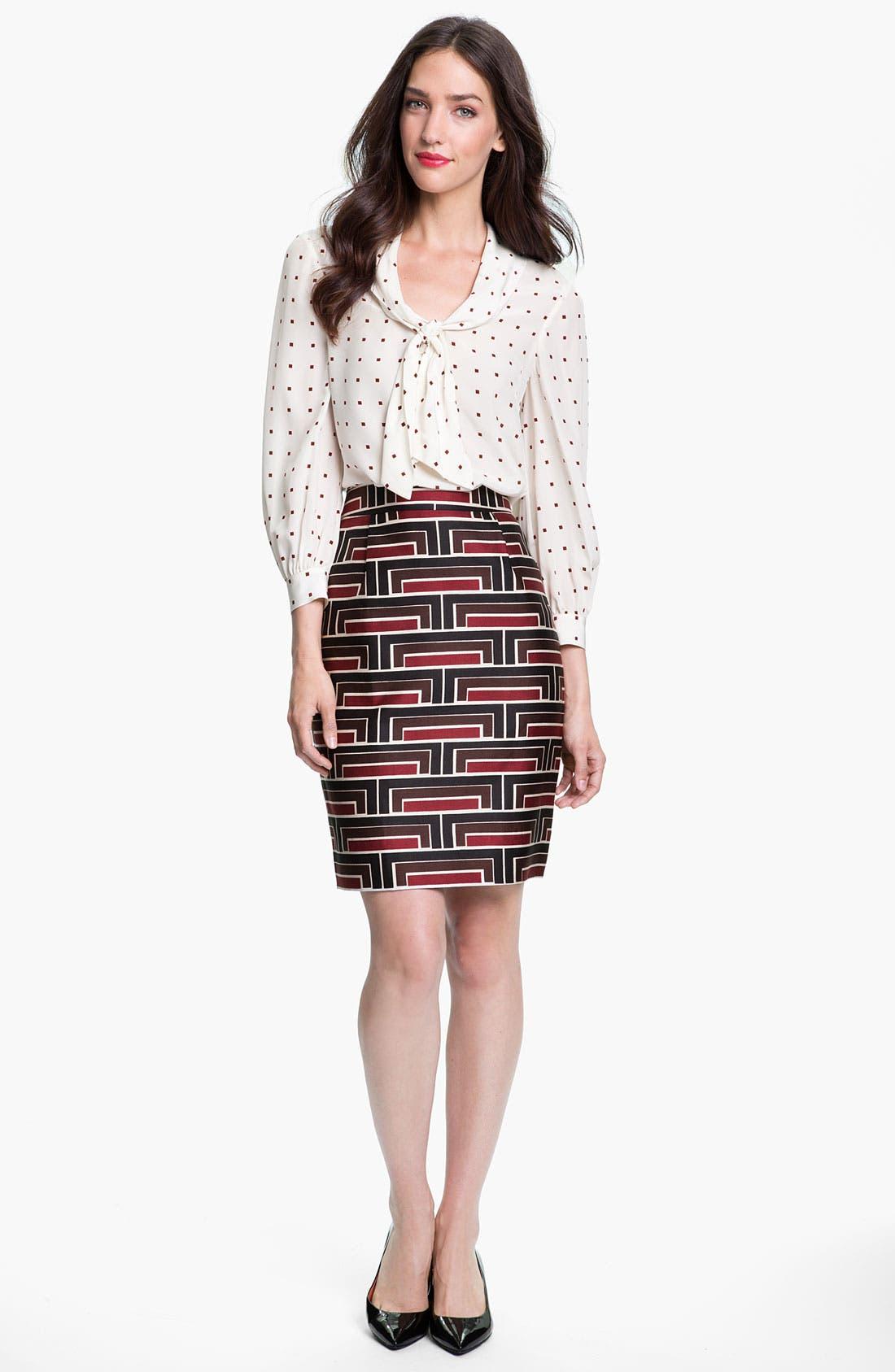 Alternate Image 4  - kate spade new york 'jordan' print skirt