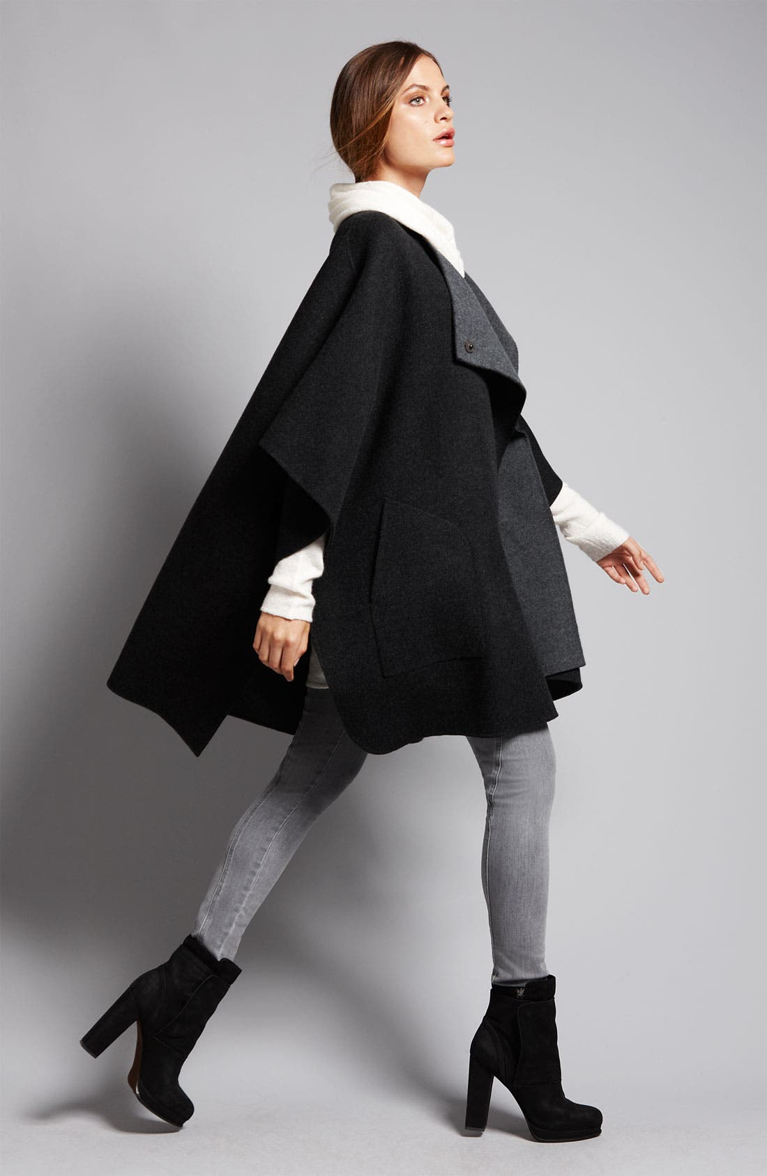 Alternate Image 3  - Vince Two Tone Wool Cape