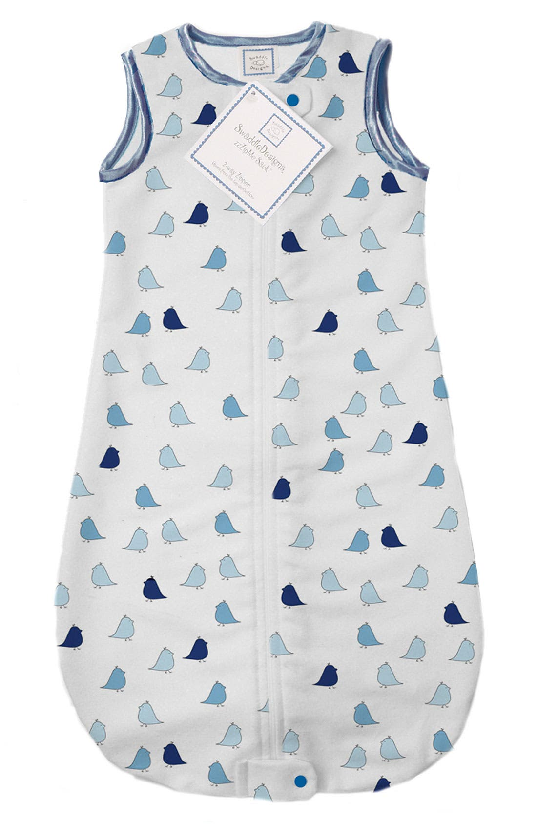 Alternate Image 1 Selected - Swaddle Designs 'zzZipme' Flannel Wearable Blanket (Baby)