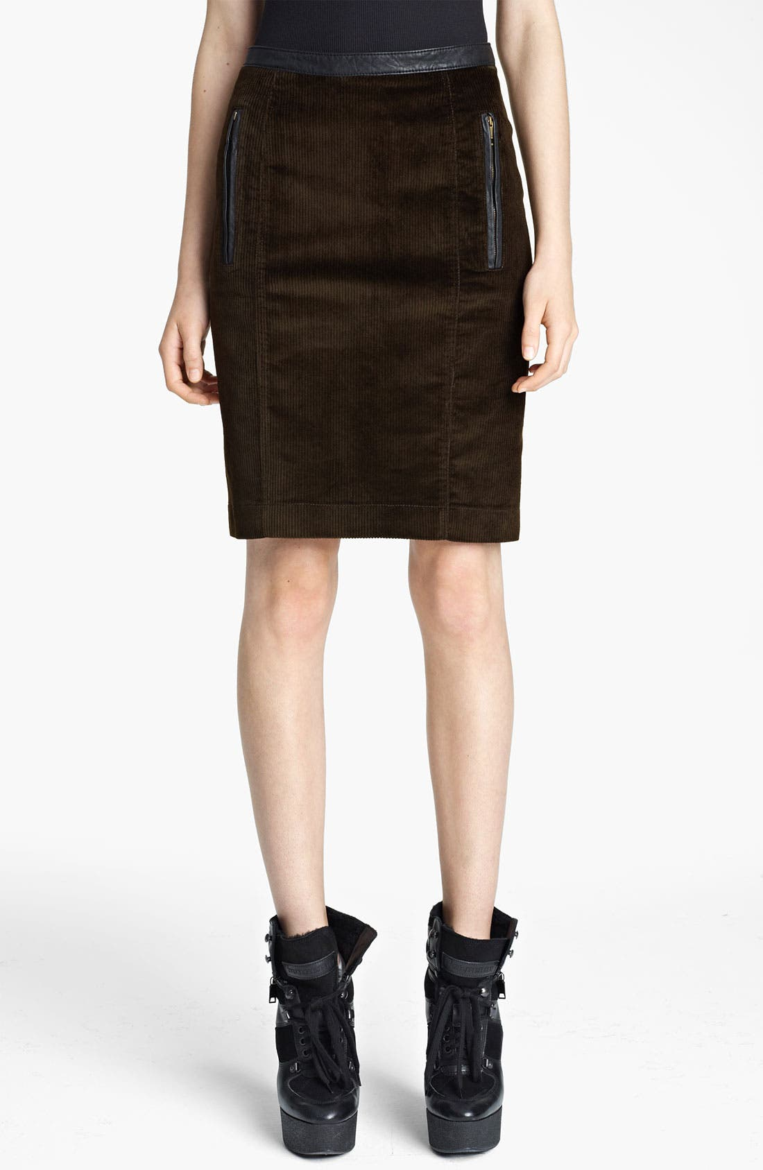 Main Image - Burberry Brit Corduroy Pencil Skirt