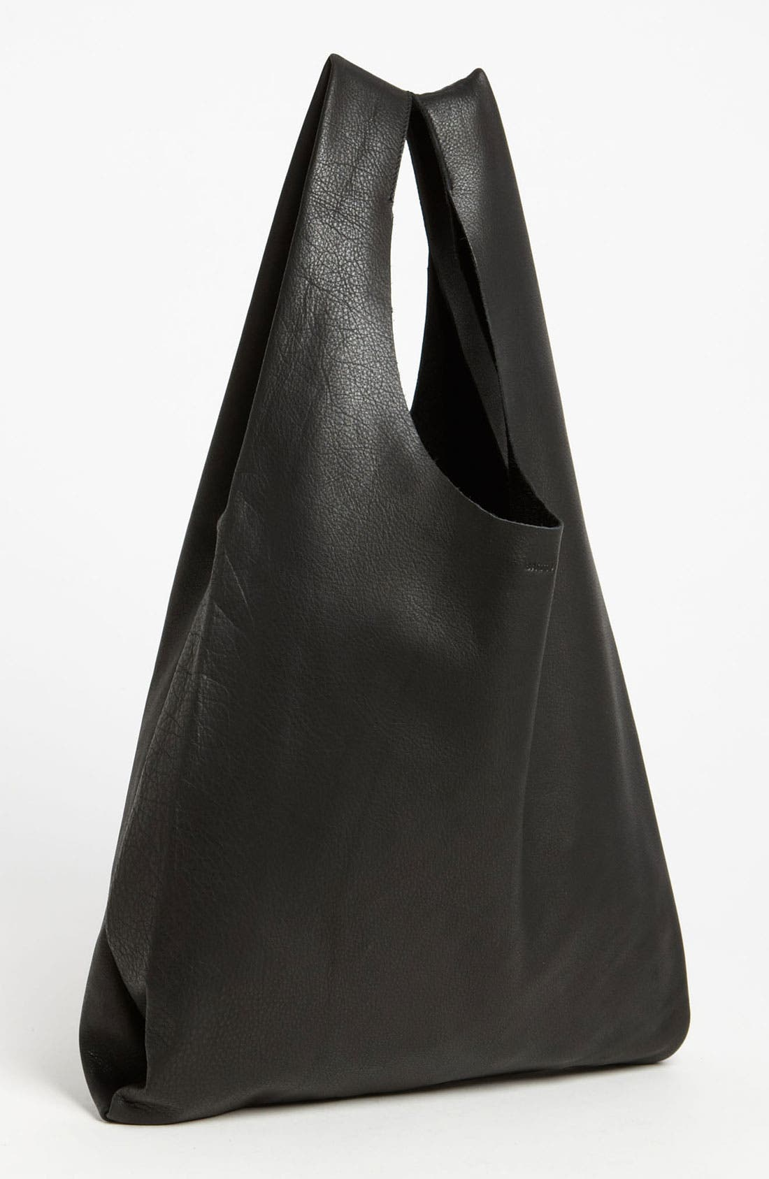 Alternate Image 1 Selected - Baggu® 'Medium' Leather Shoulder Bag
