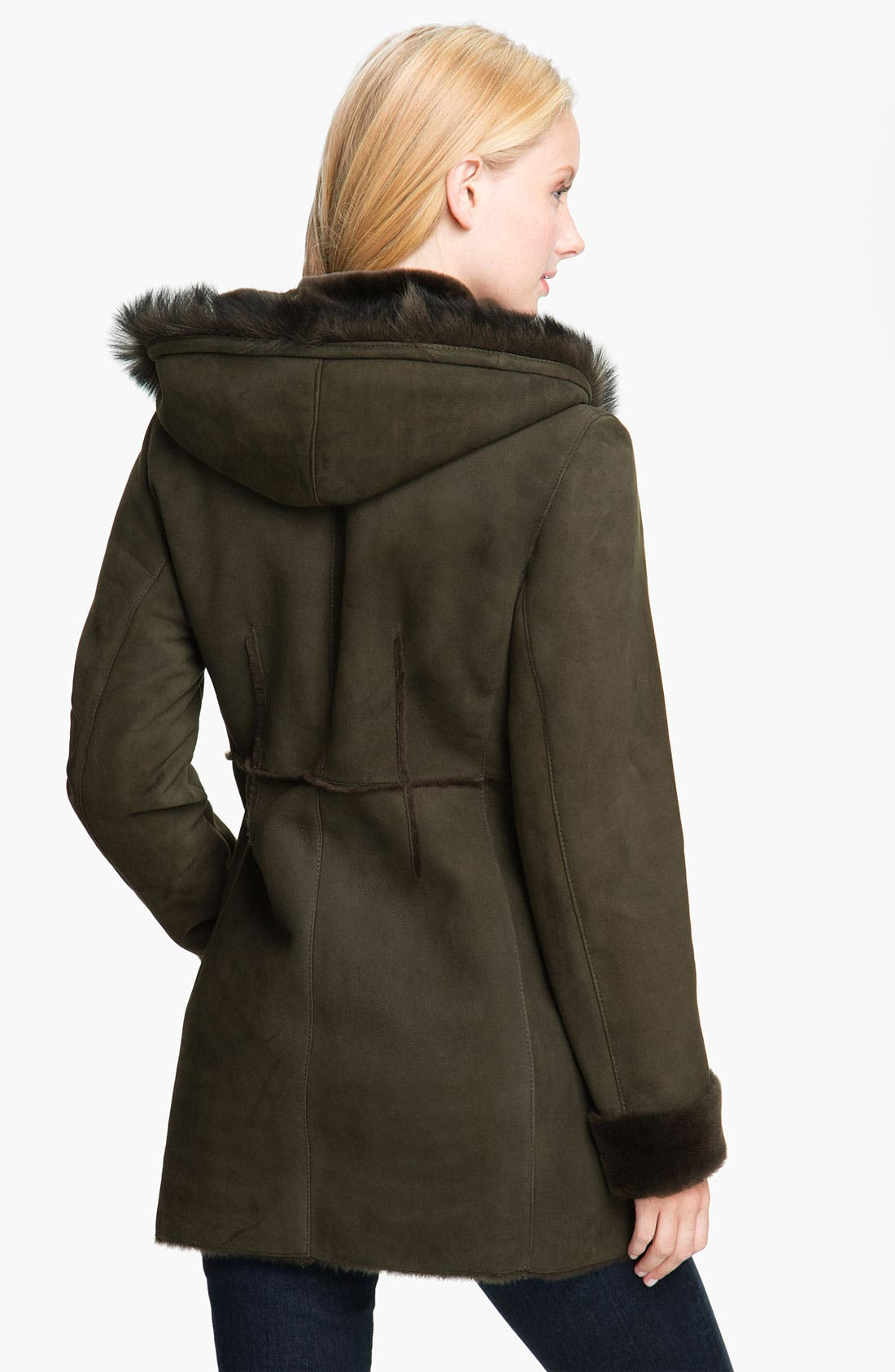 Alternate Image 2  - Blue Duck Genuine Shearling Hooded Jacket