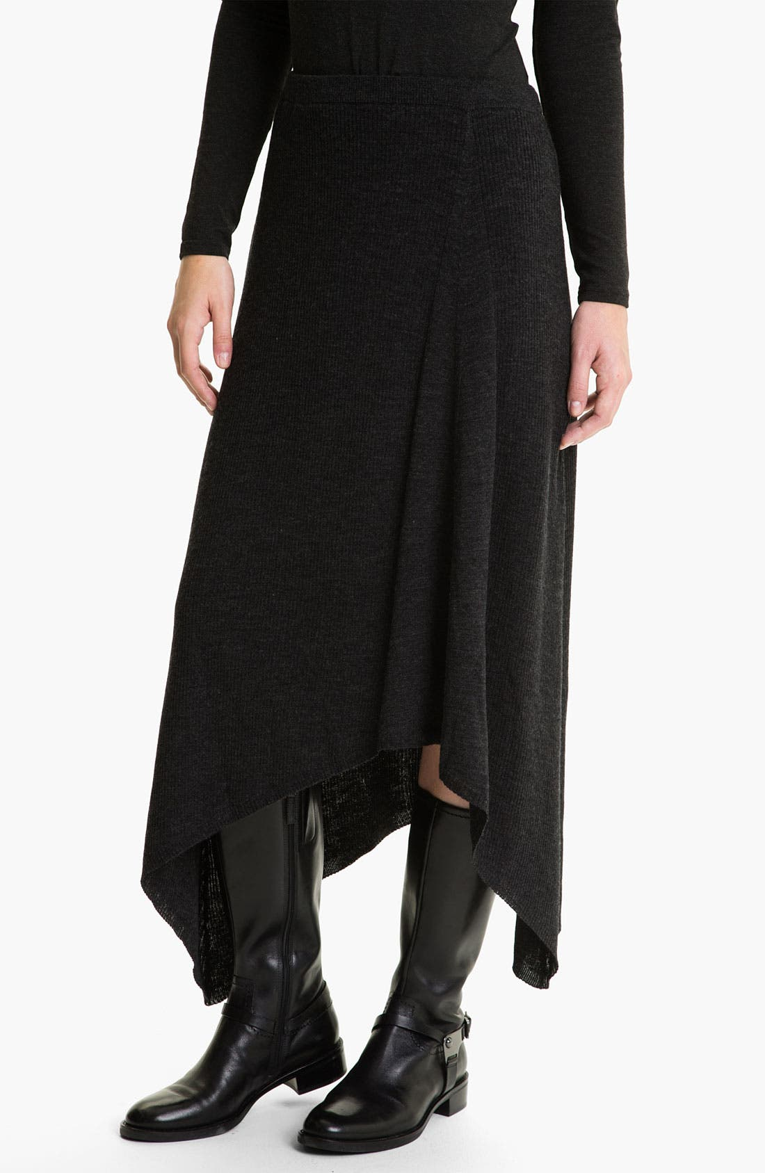 Main Image - Eileen Fisher Merino Jersey Rib Knit Skirt