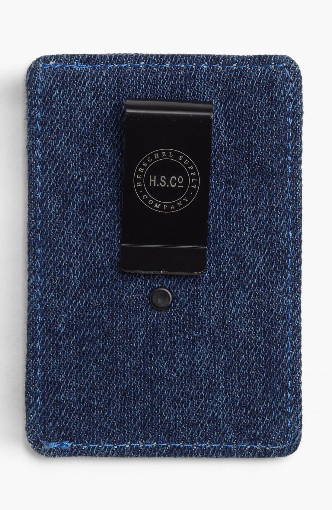 Alternate Image 2  - Herschel Supply Co. 'Raven - Denim Collection' Card Case