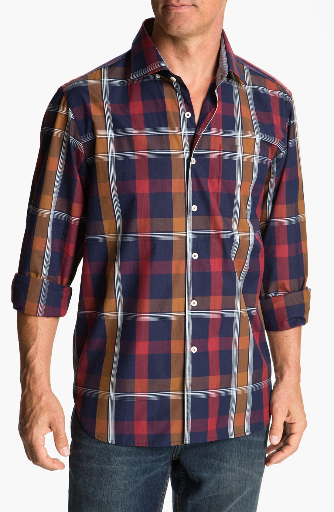 Alternate Image 1 Selected - Tommy Bahama 'Plaid By Night' Sport Shirt