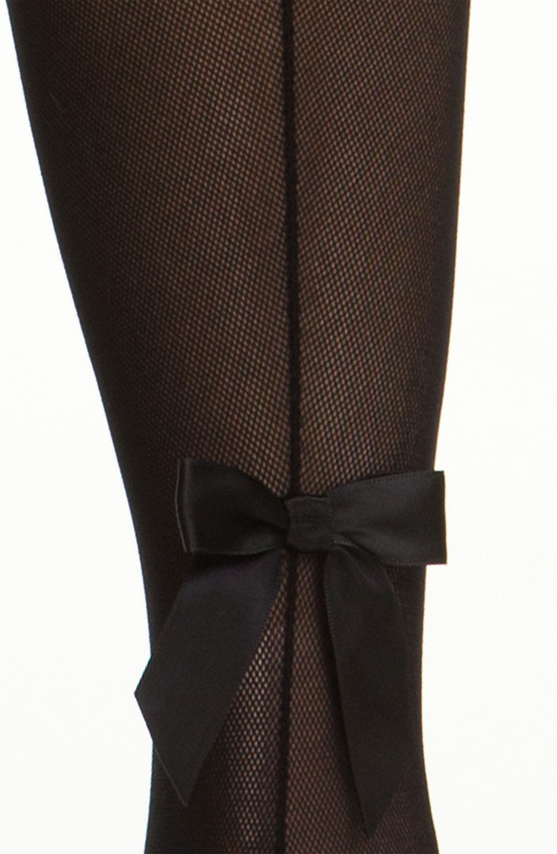 Alternate Image 2  - Pretty Polly Back Seam & Bow Tights (Nordstrom Exclusive)
