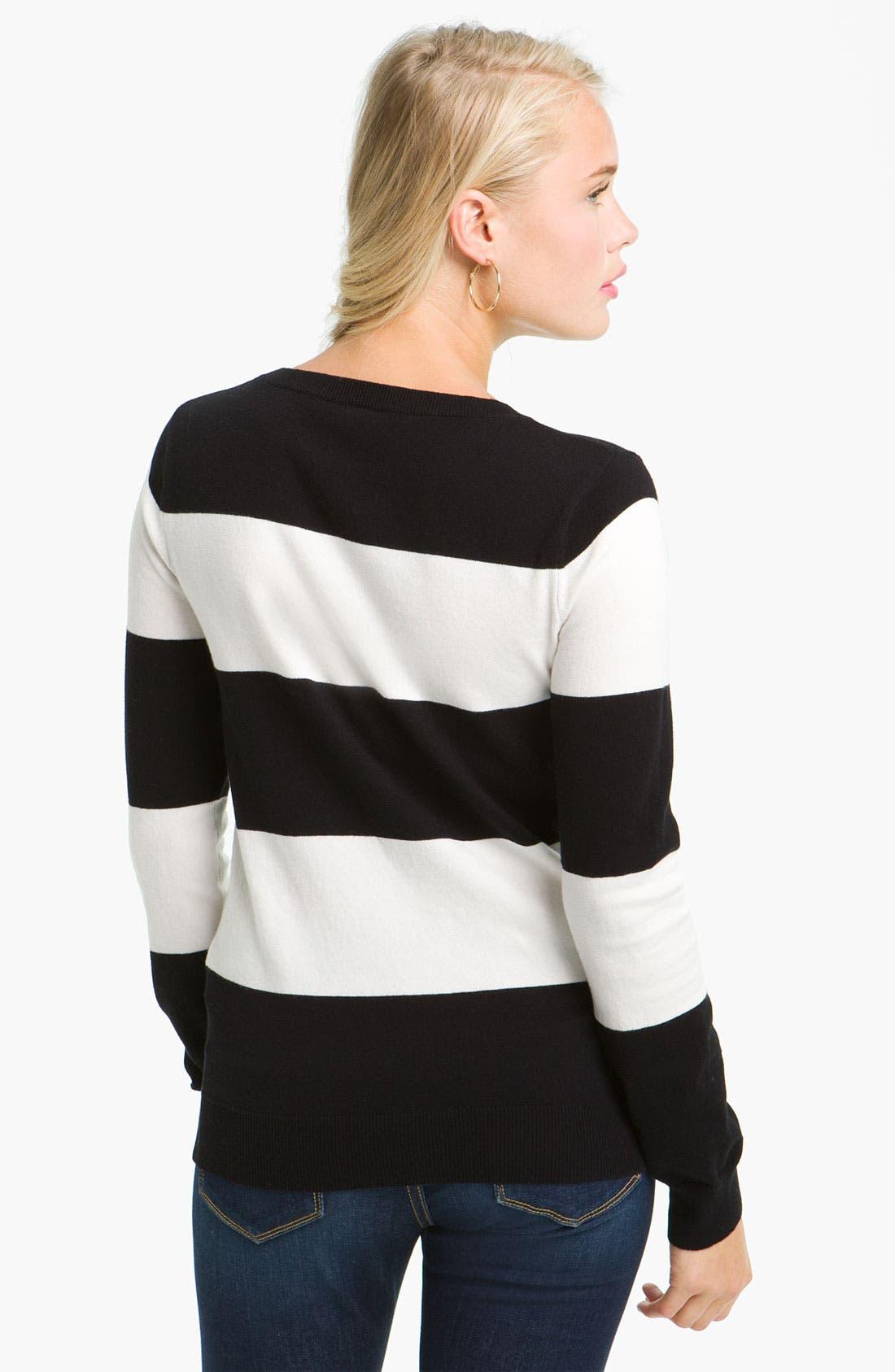 Alternate Image 2  - BP. Long Sleeve Crewneck Sweater (Juniors)