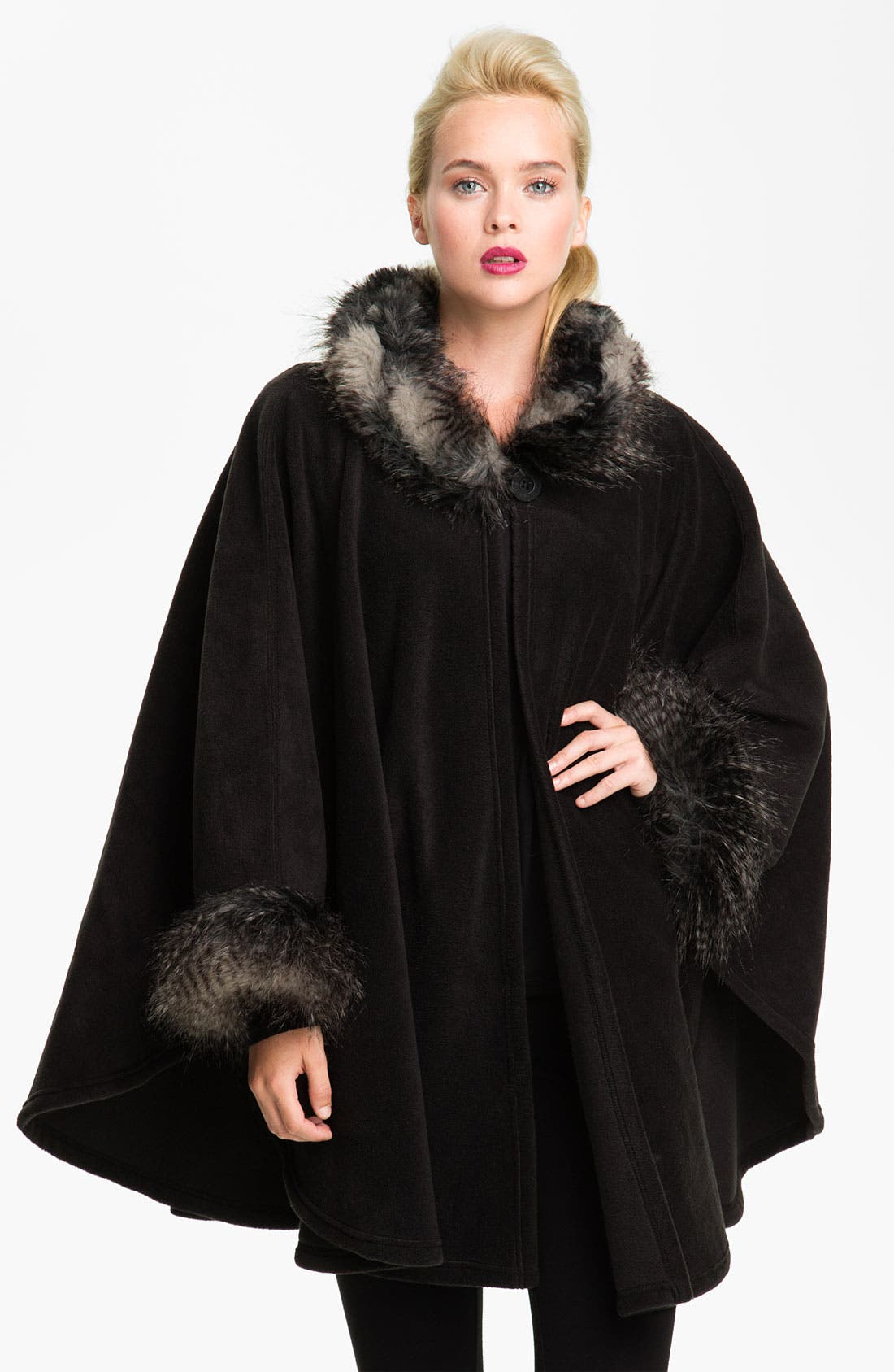 Alternate Image 1 Selected - Parkhurst 'Desmona' Faux Fur Trim Cape