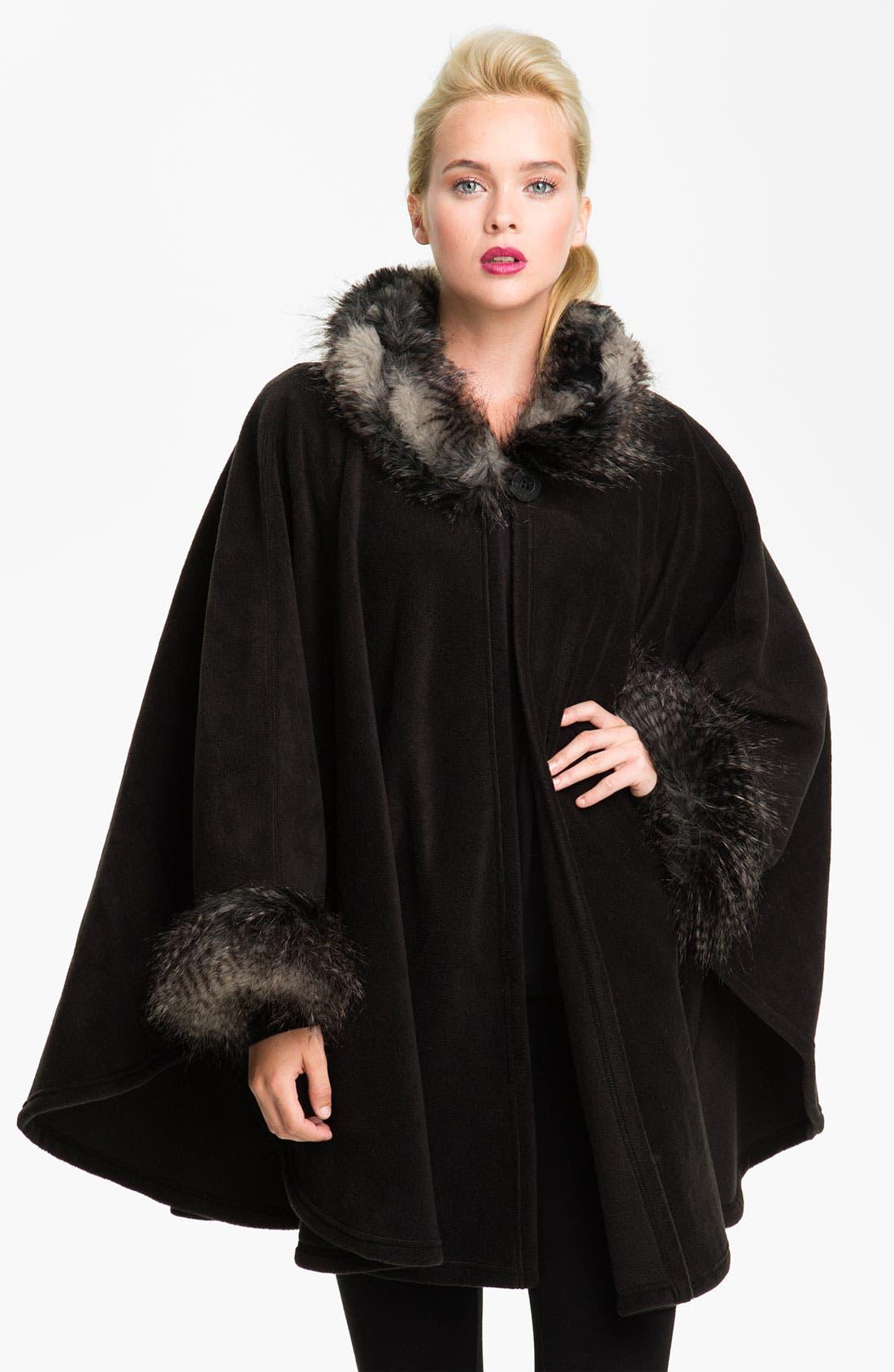 Main Image - Parkhurst 'Desmona' Faux Fur Trim Cape