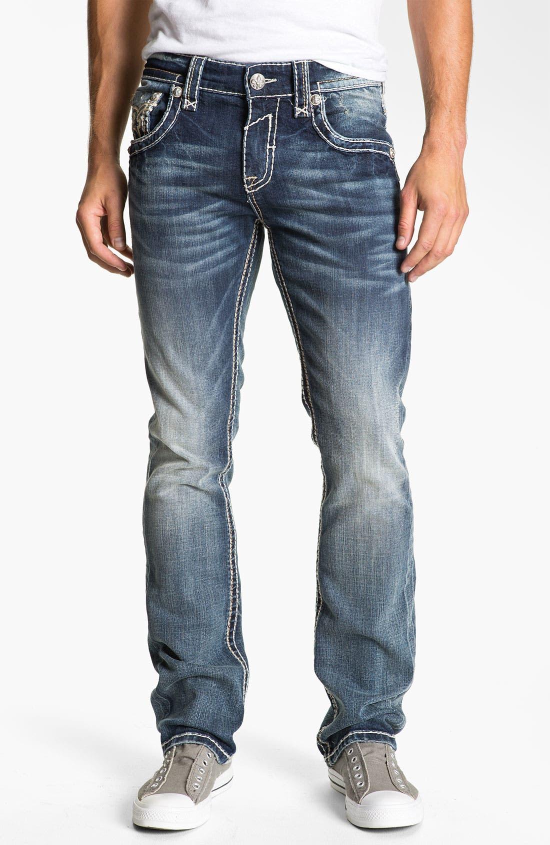 Alternate Image 2  - Rock Revival 'Tony' Straight Leg Jeans (Dark Blue)