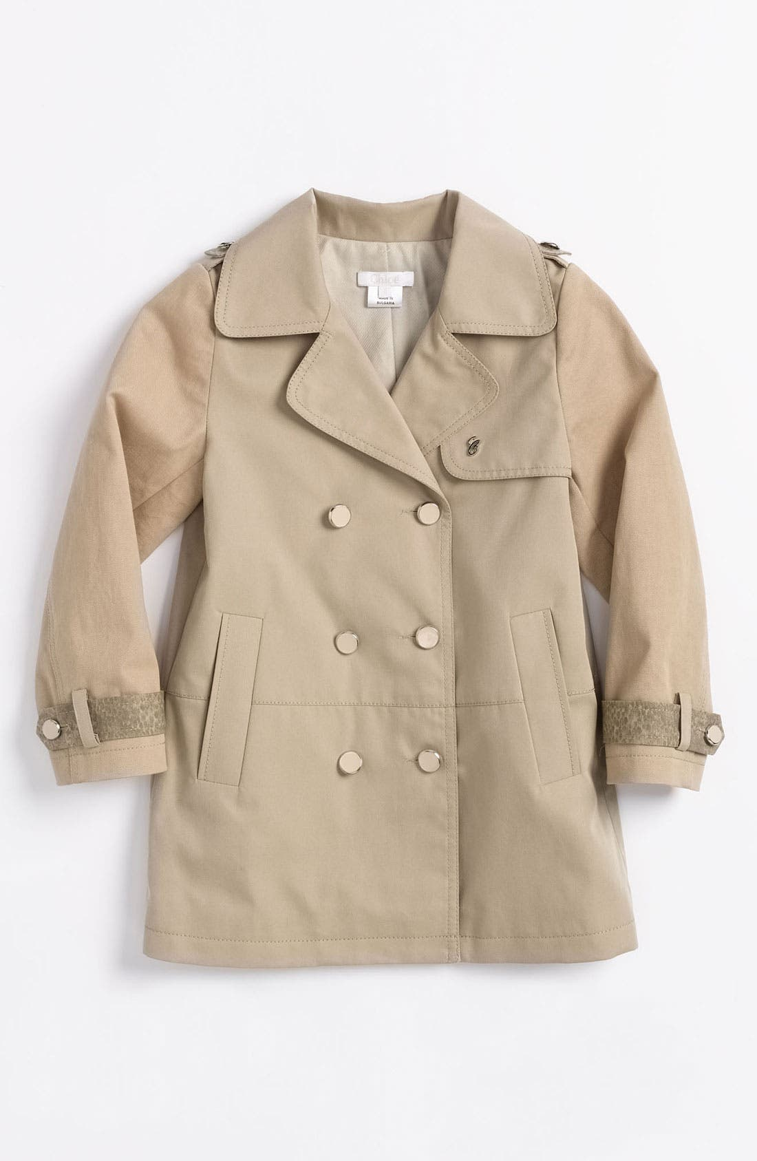 Alternate Image 1 Selected - Chloé Water Resistant Trench (Little Girls & Big Girls)
