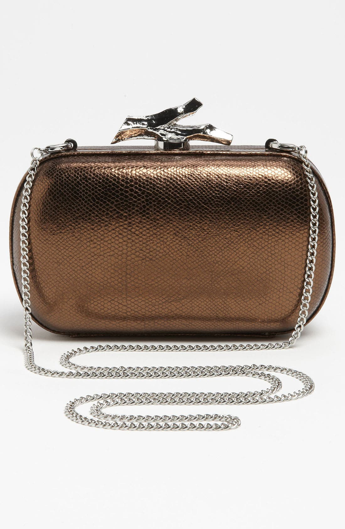 Alternate Image 4  - Diane von Furstenberg 'Lytton - Small' Metallic Leather Clutch