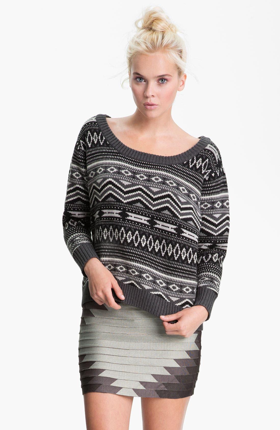 Alternate Image 1 Selected - Haute Hippie Southwestern Merino Wool Sweater