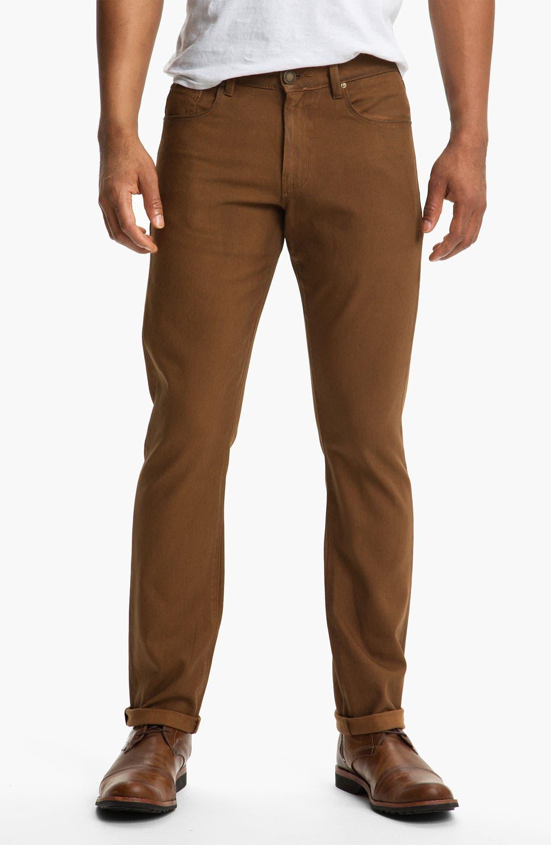 Alternate Image 1 Selected - DL1961 'Russell' Slim Straight Leg Jeans (Desert) (Online Only)