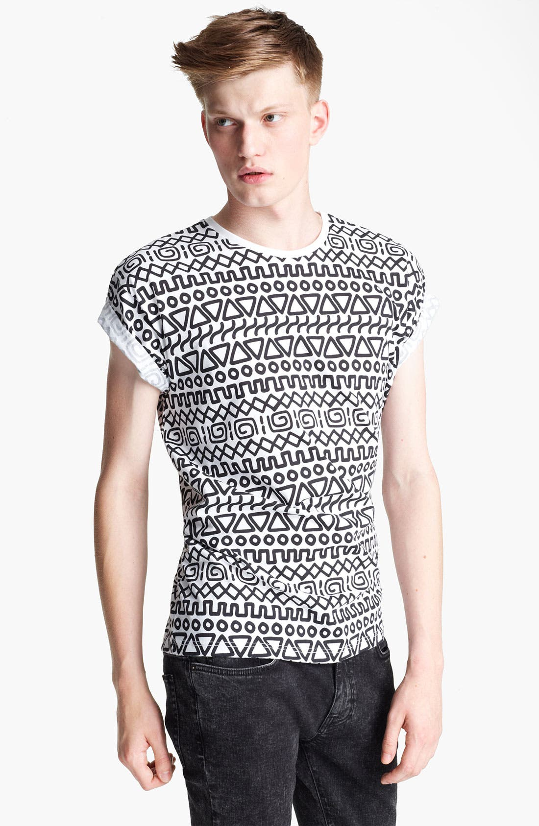 Alternate Image 1 Selected - Topman 'High Roller' All Over Print T-Shirt