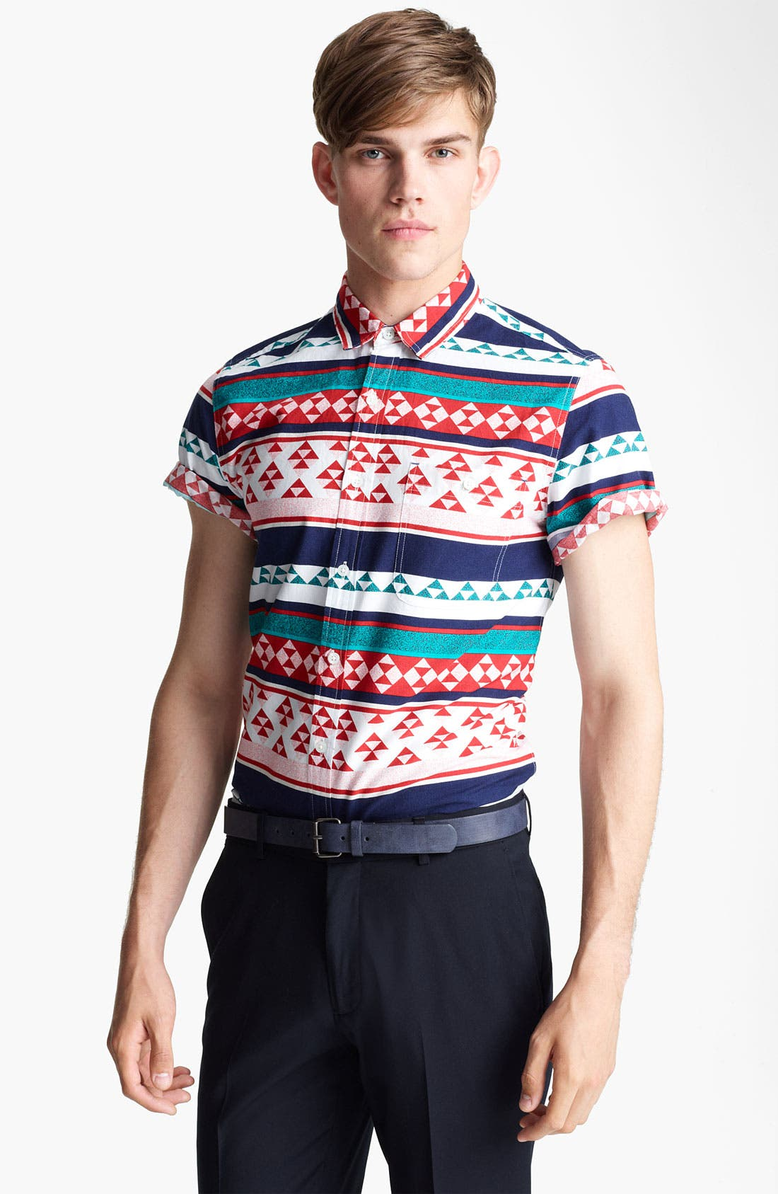 Alternate Image 1 Selected - Topman 'High Roller' Pattern Shirt