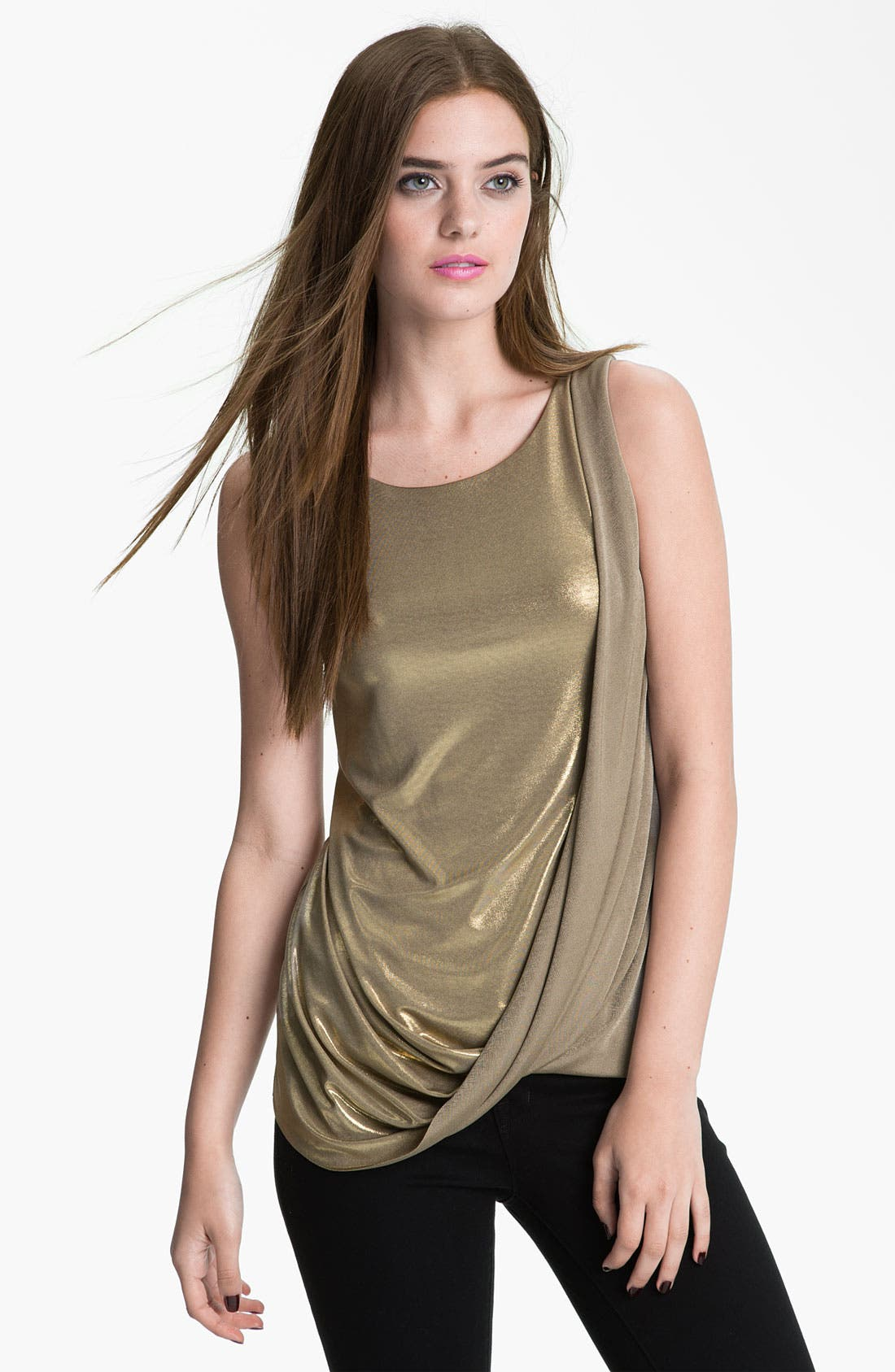 Alternate Image 1 Selected - Bailey 44 Draped Metallic Top