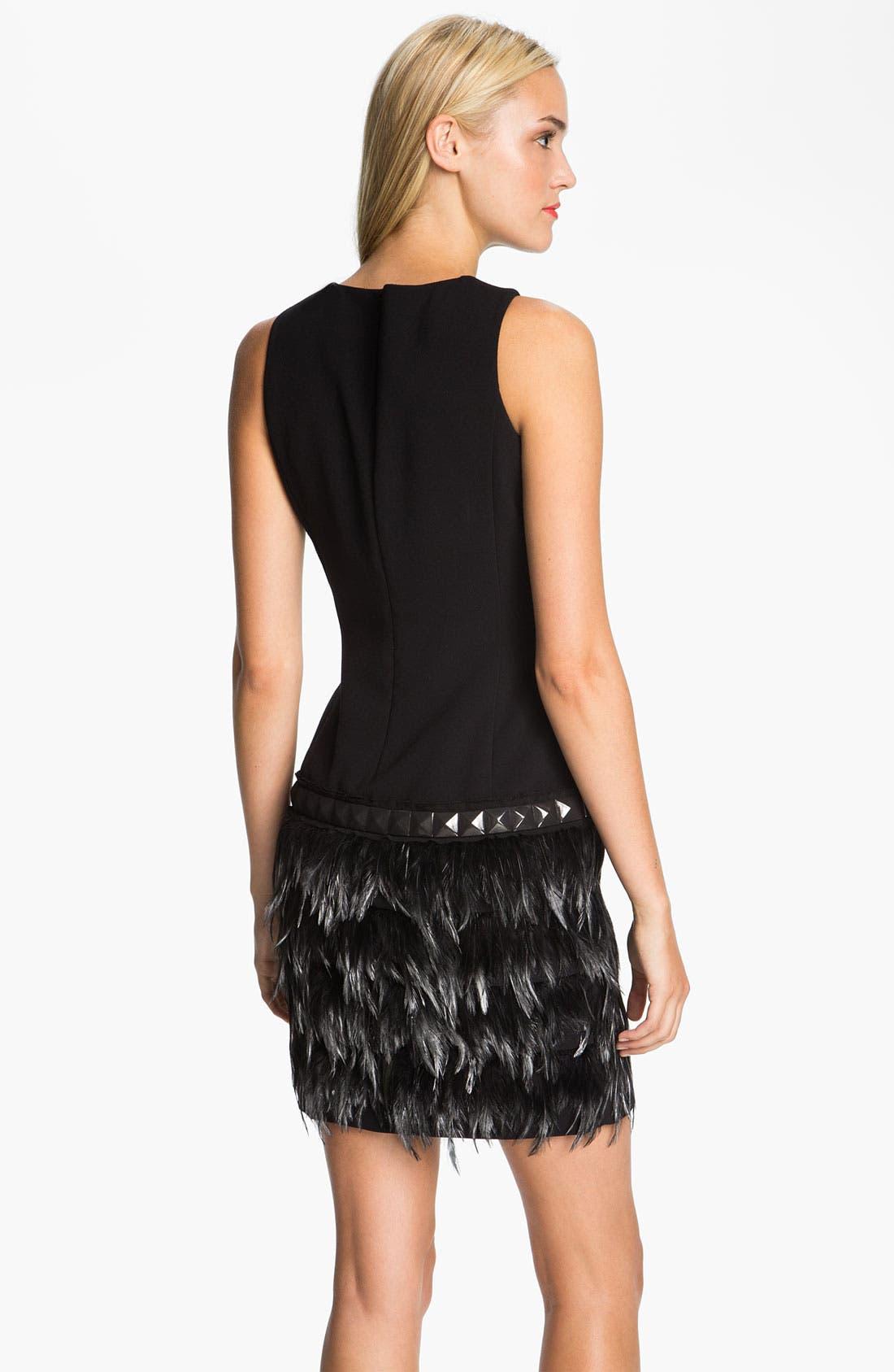 Alternate Image 2  - MICHAEL Michael Kors Feather Trim Dress