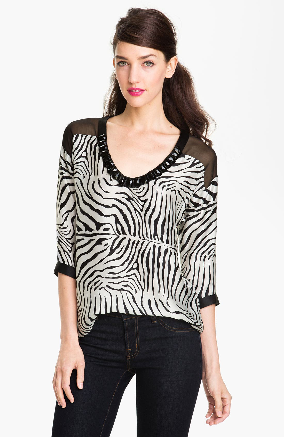Alternate Image 1 Selected - Nanette Lepore 'McCov' Silk Top