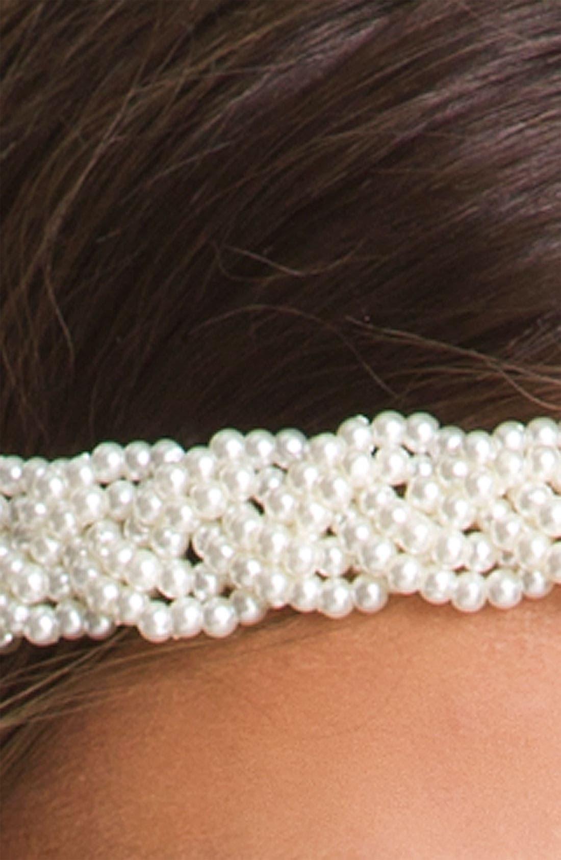 Alternate Image 2  - Carole Braided Pearlized Bead Headband