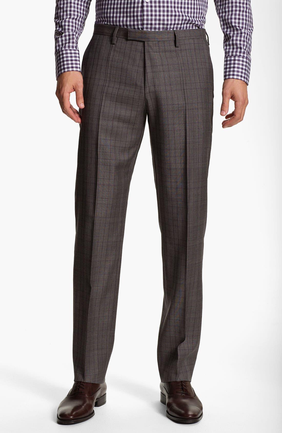 Alternate Image 4  - BOSS Selection 'Howard/Court' Trim Fit Plaid Suit