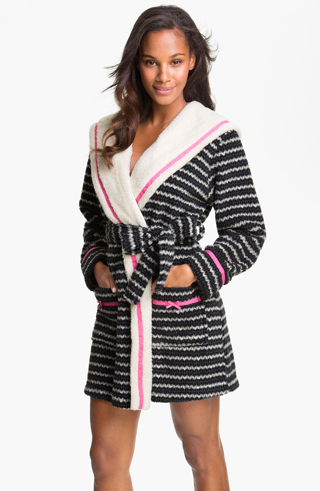 Main Image - Kensie Hooded Fleece Robe