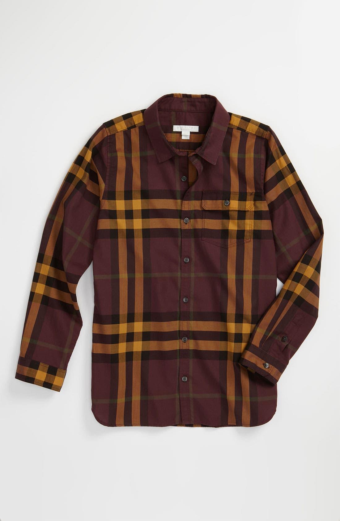 Main Image - Burberry Check Print Shirt (Little Boys)
