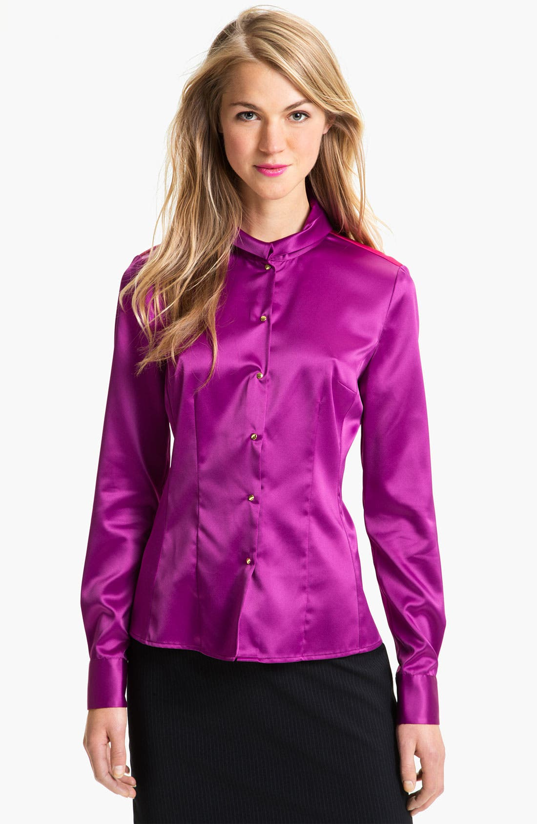 Alternate Image 1 Selected - T Tahari 'Baker' Blouse (Petite)