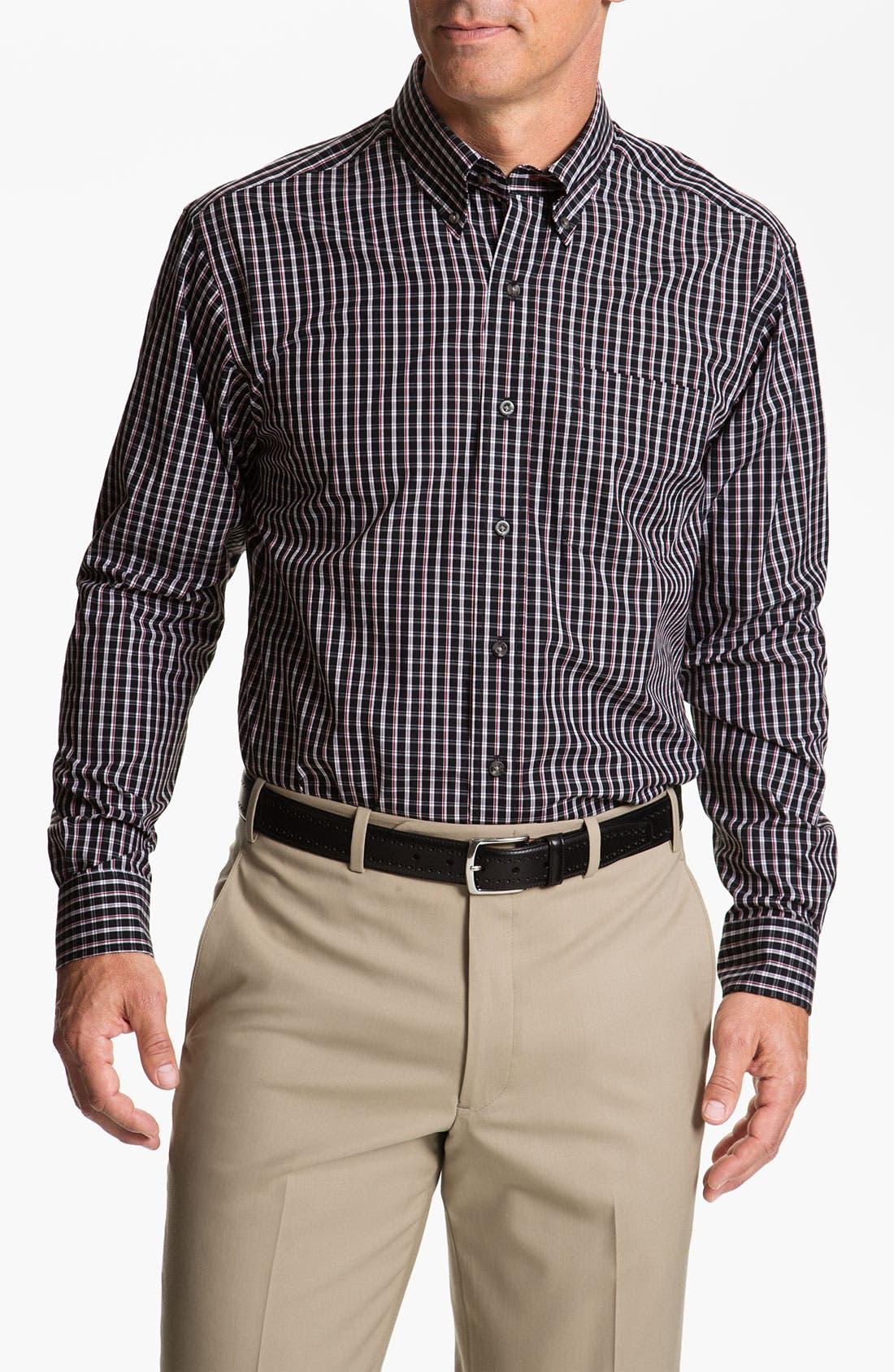 Main Image - Cutter & Buck 'Elfin' Check Sport Shirt (Big & Tall)
