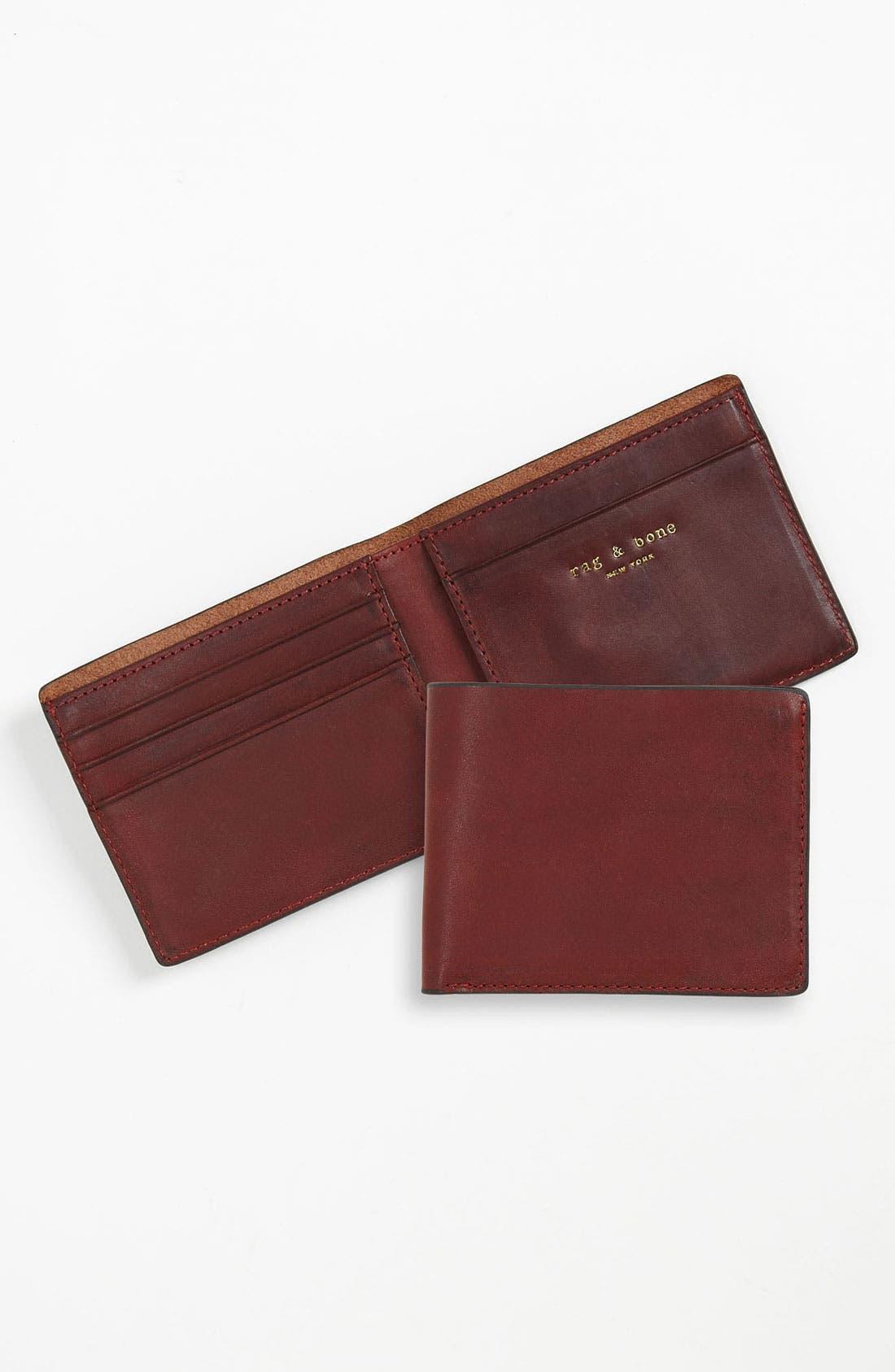 Alternate Image 1 Selected - rag & bone Leather Bifold Wallet