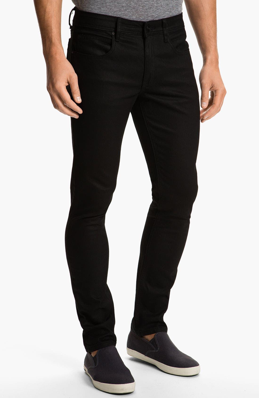 Alternate Image 2  - Ezekiel 'Chopper 305' Slim Straight Leg Jeans (Black)