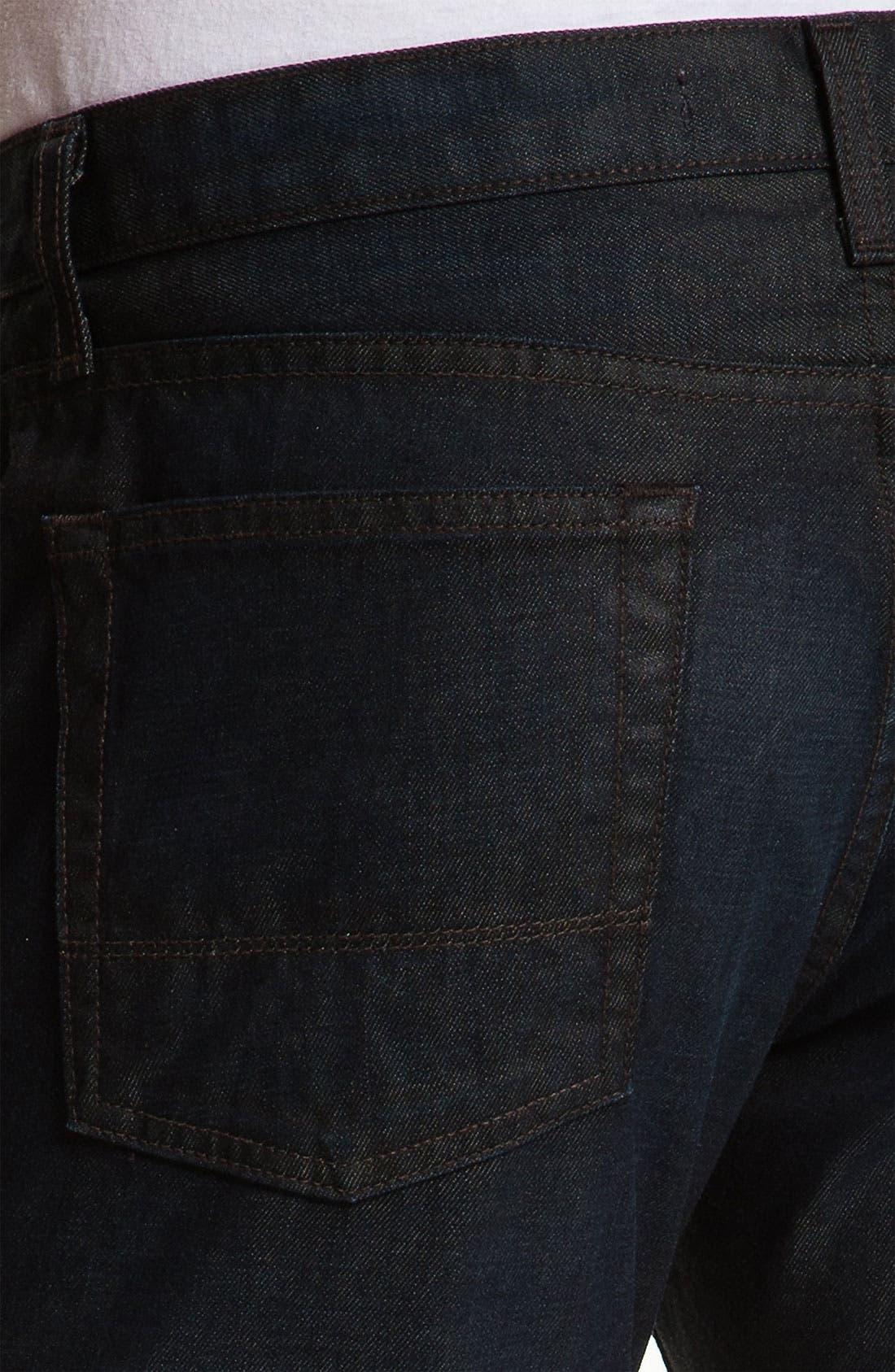 Alternate Image 4  - Vince Slim Straight Leg Jeans (Dark Clean)