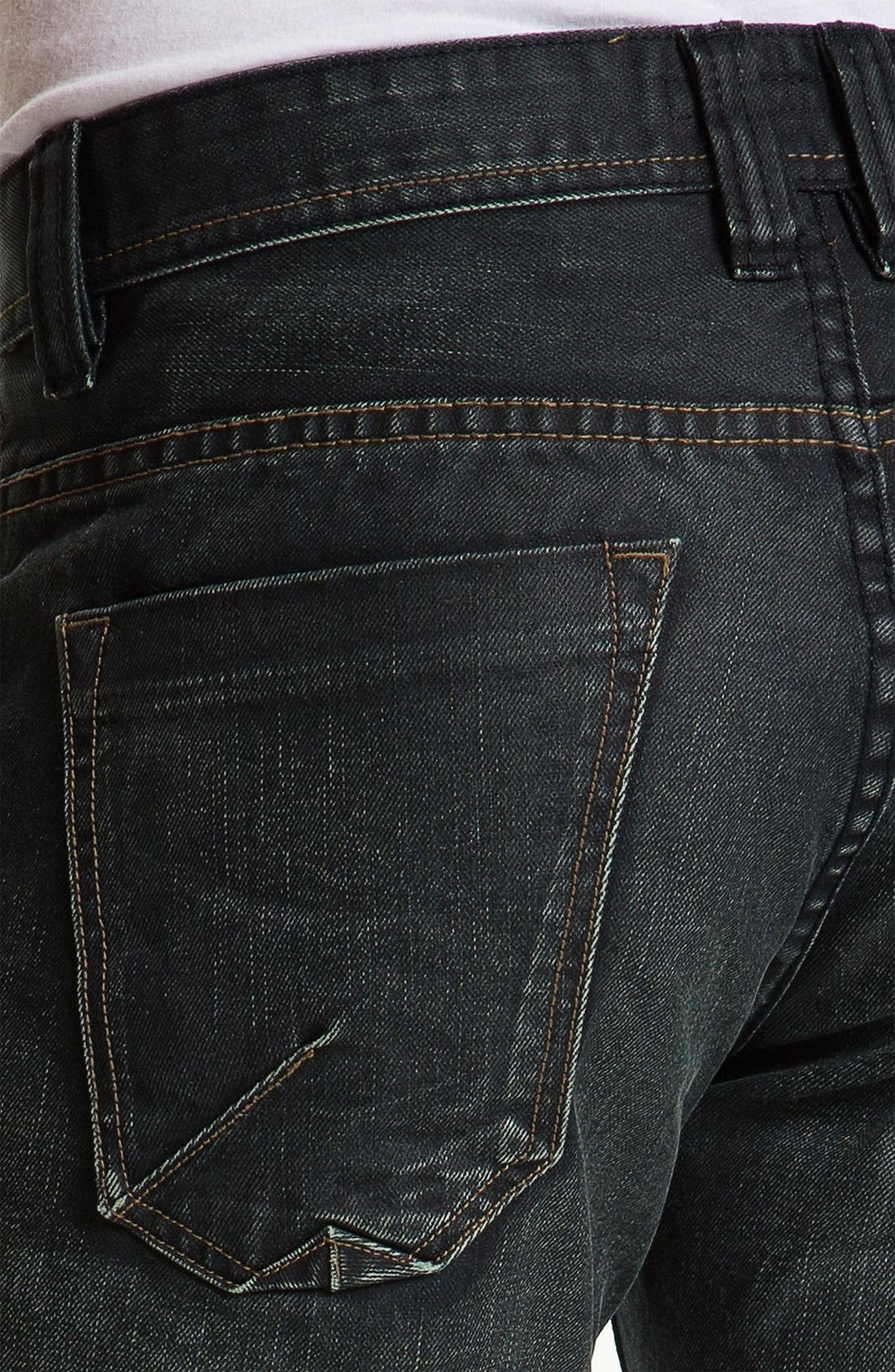 Alternate Image 4  - Projek Raw Relaxed Straight Leg Jeans (Dark Blue)